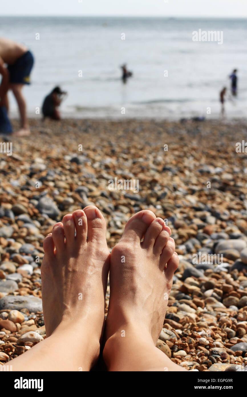 sunbathe - Stock Image