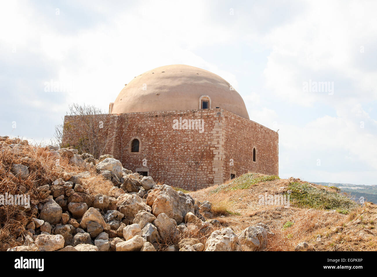 Venetian Fortezza or Citadel in the city of Rethymno on the island of Crete, Greece, created in 1573. Stock Photo