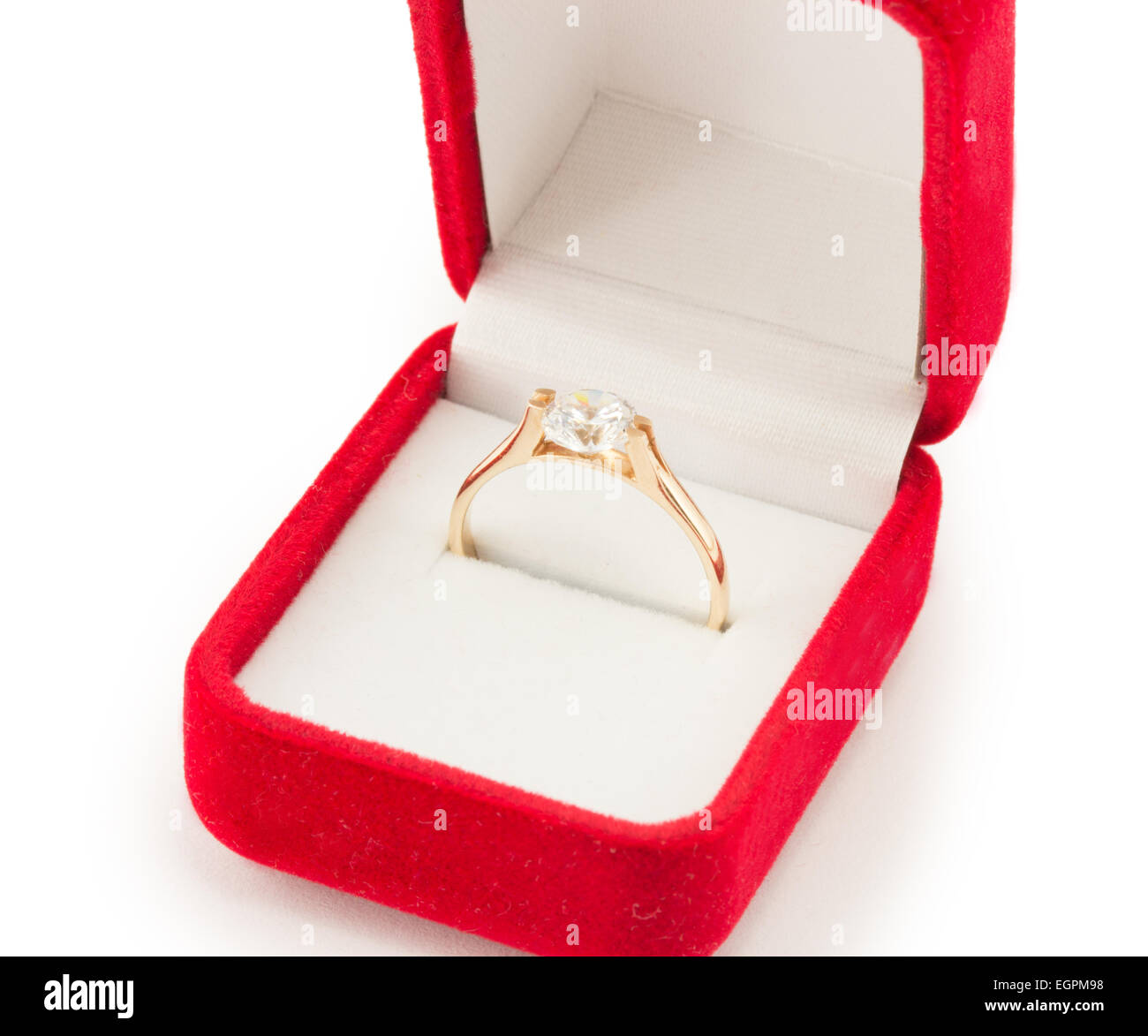 gold wedding ring in a red gift box Stock Photo: 79174852 - Alamy