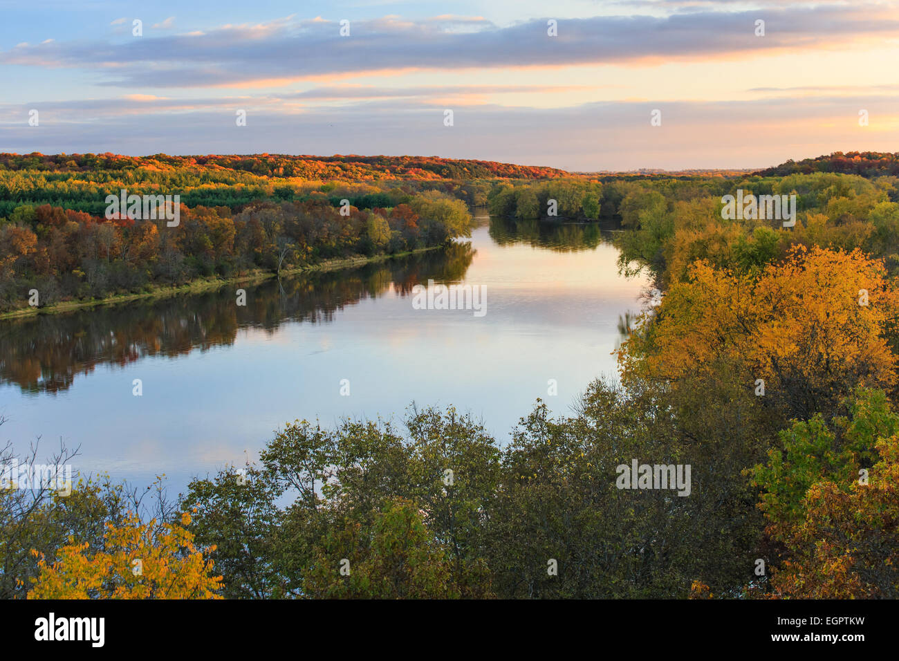 The Rock River in Illinois - Stock Image