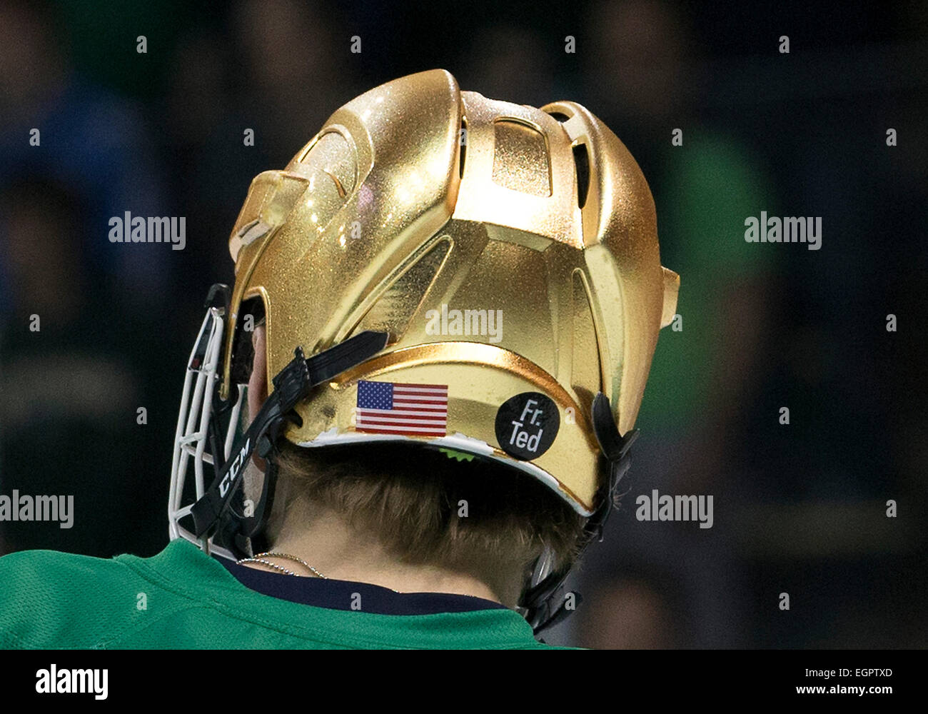 February 28, 2015: Notre Dame players honor Father Ted