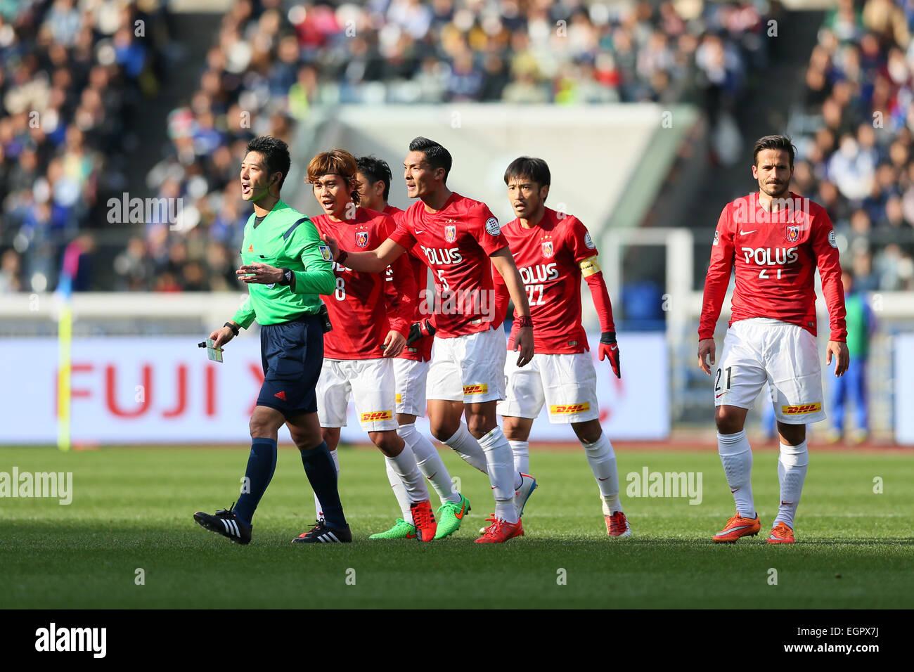 Kanagawa Japan 28th Feb 2015 Urawa Red Diamonds Team Group Reds Stock Photo Alamy