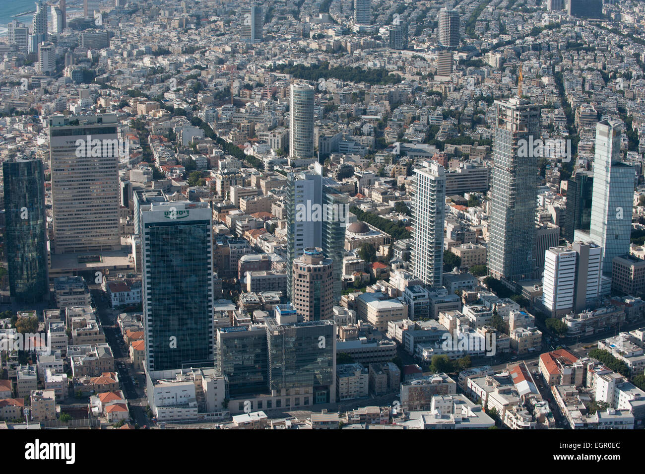 Aerial Photography of Tel Aviv, Israel - Stock Image