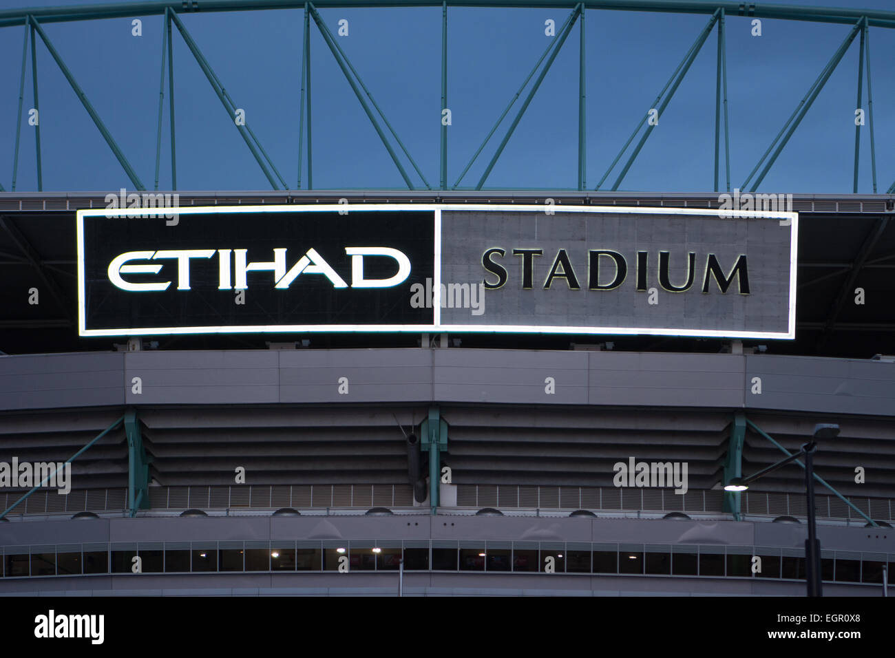 Melbourne Australia Etihad Stadium Sign Stock Photo - Alamy