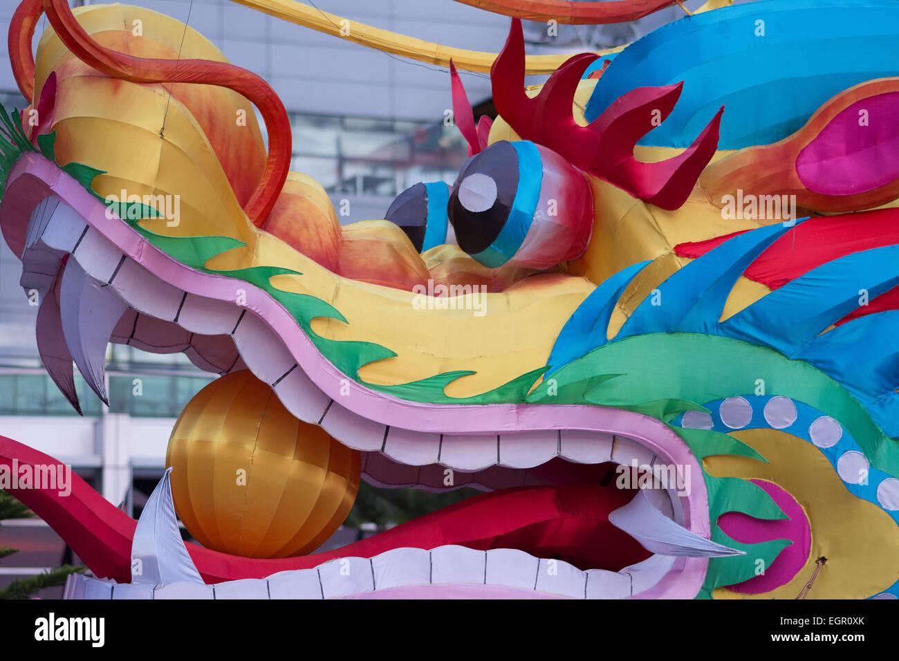 chinese new year dragon head dragon boat head stock photo 79181611