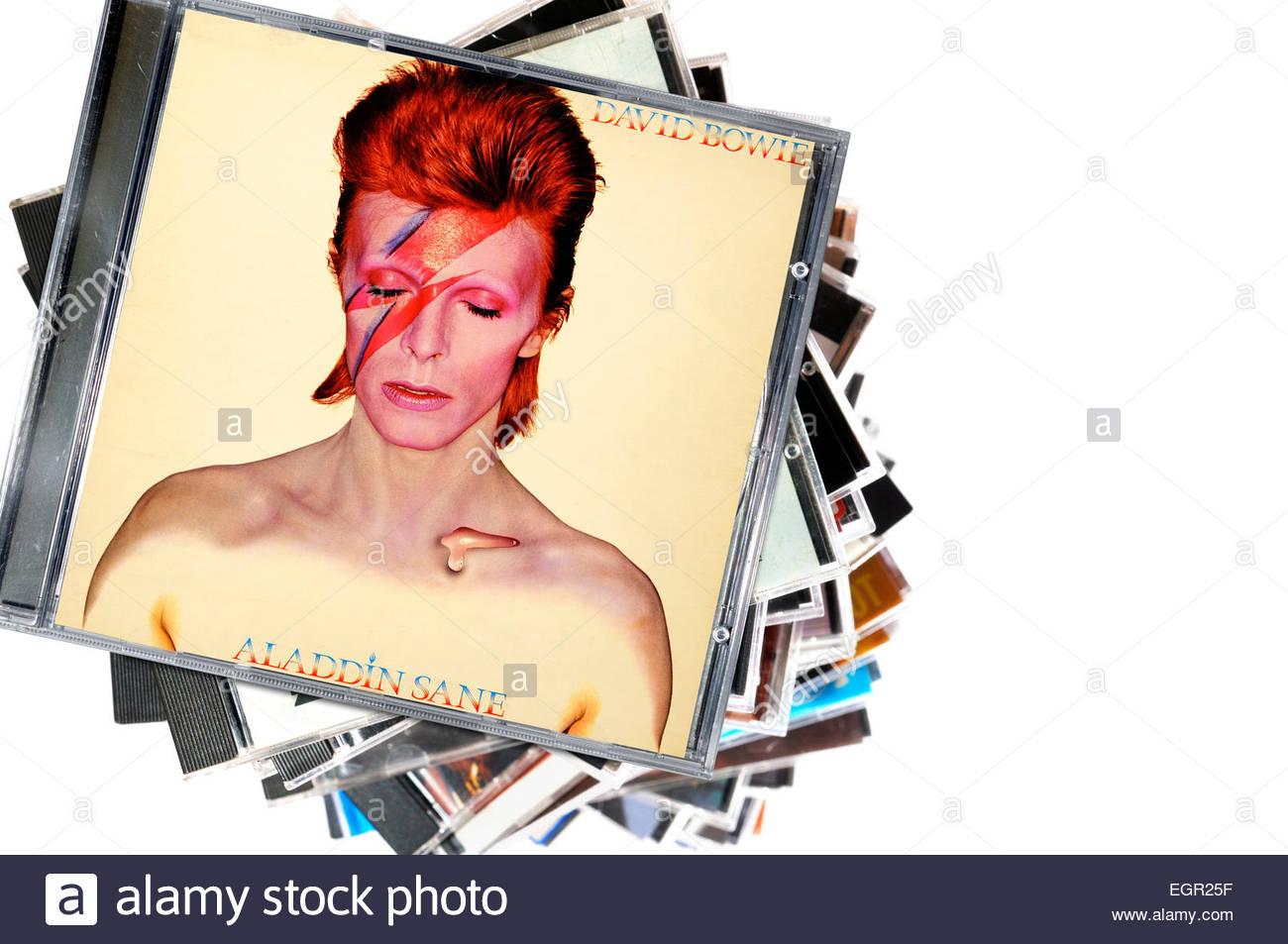 David Bowie Album Aladdin Sane, CD cases, England Stock Photo ...