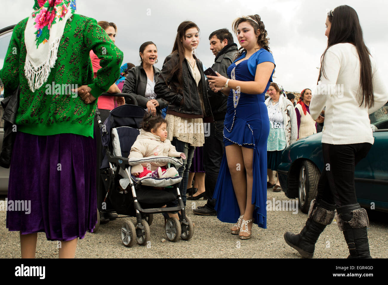 The annual gathering of the Thracian tinkers (Kalaidzhii) on the feast of St.Theodore in Stara Zagora, Bulgaria, - Stock Image