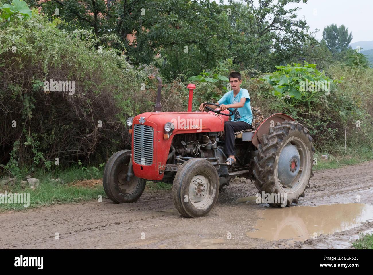 Tractor Macedonia Stock Photos & Tractor Macedonia Stock Images - Alamy