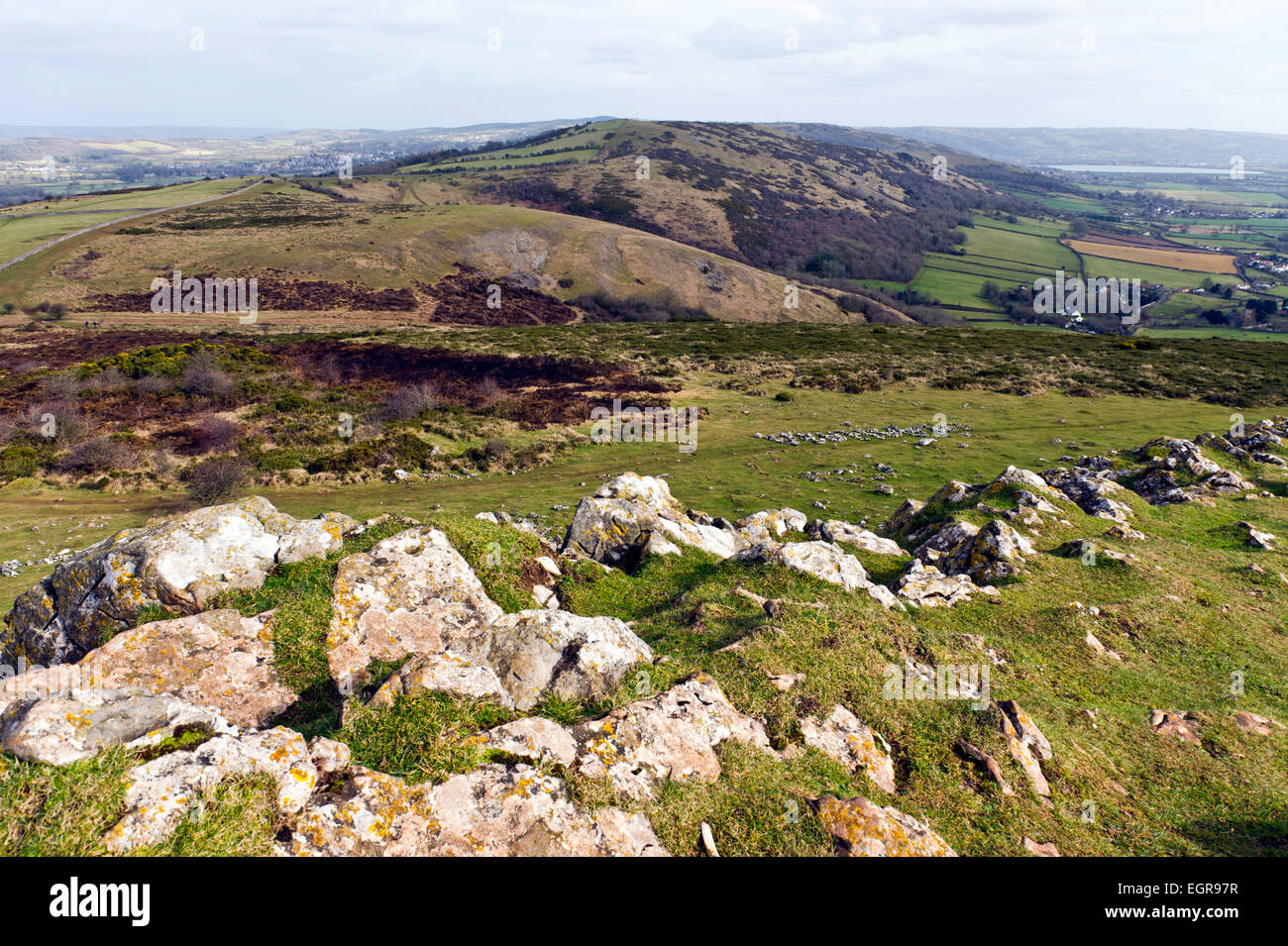 Crook Peak, Mendip hills, Somerset, England - Stock Image
