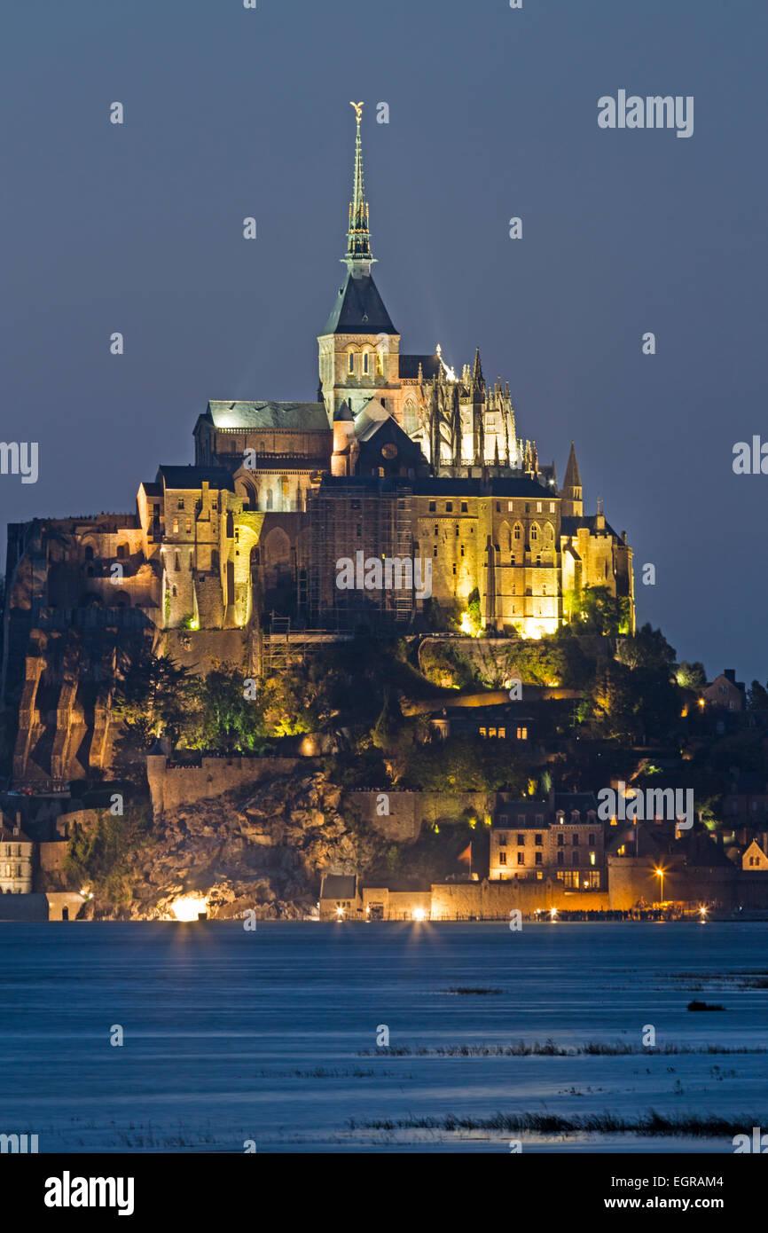 Mont St. Michel, Le Mont-Saint-Michel, Normandy, France Stock Photo