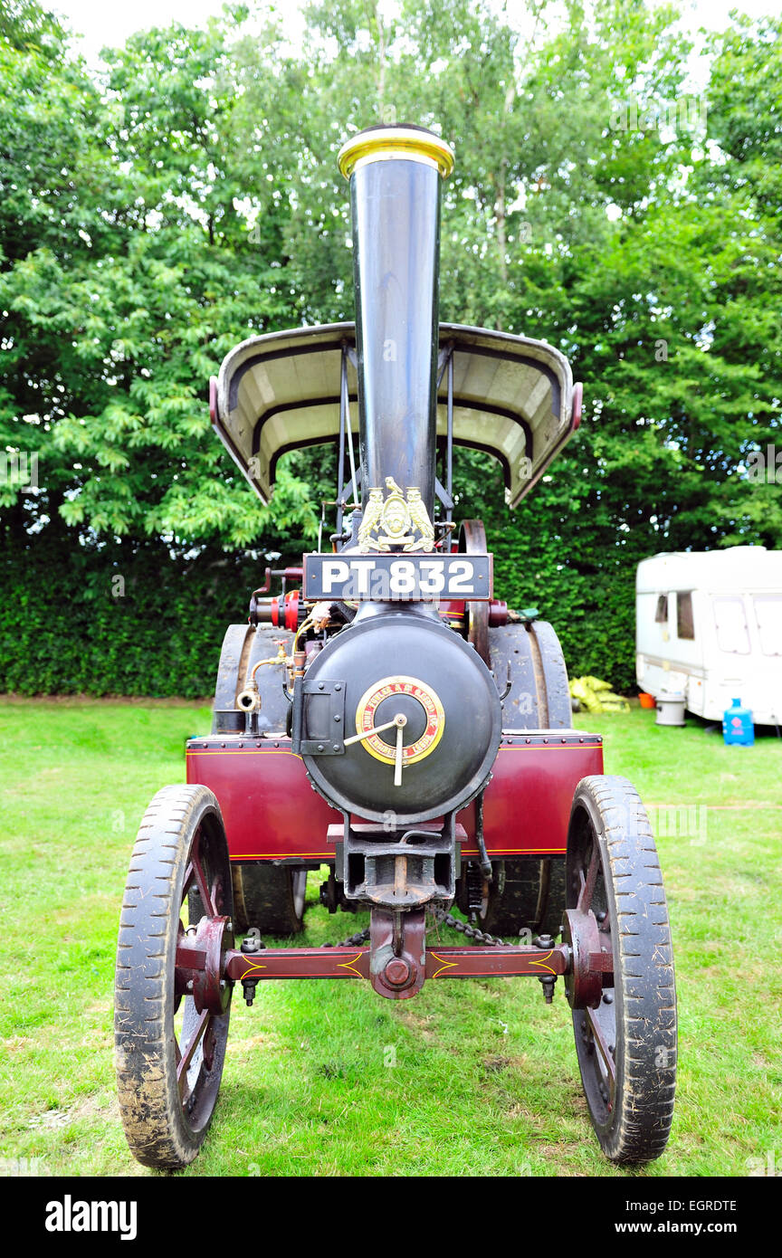 restored steam traction engine - Stock Image