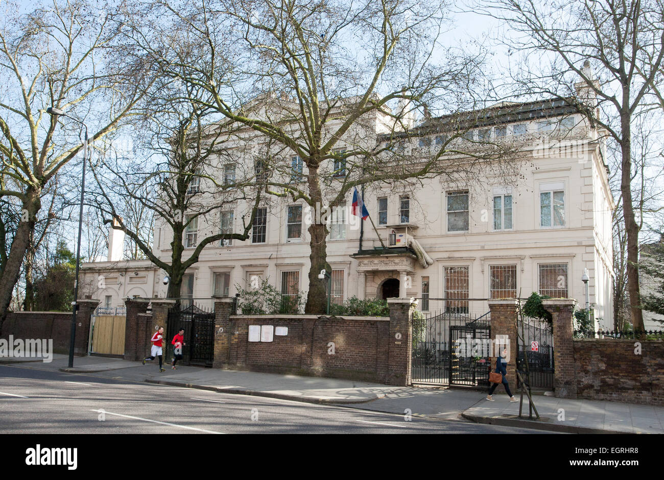 General View GV of The Embassy of the Russian Federation, 6-7 Kensington Palace Gardens, London W8 4QP - Stock Image