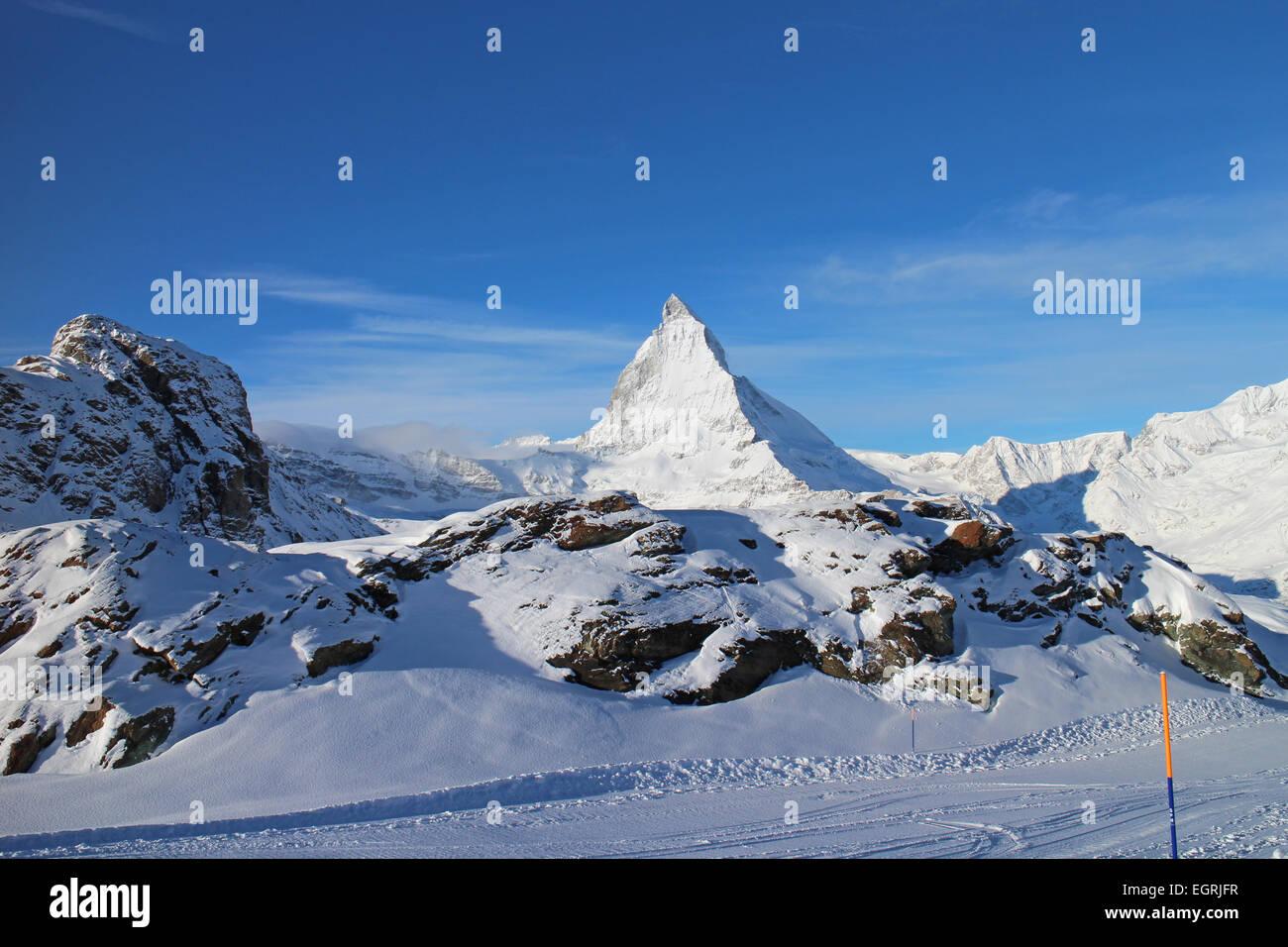 Matterhorn, Zermatt, Switzerland from Rotenboden - Stock Image