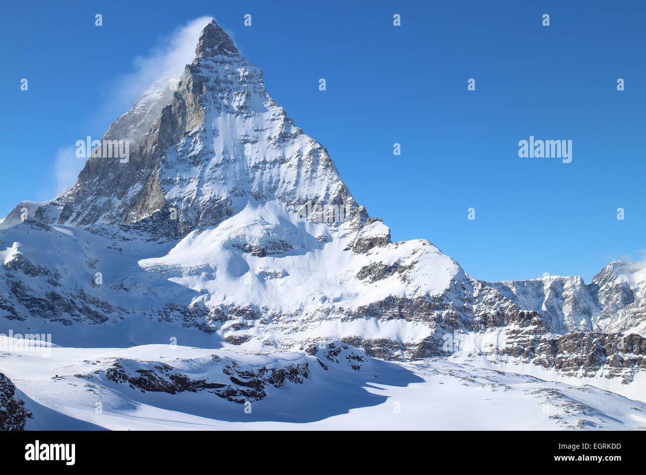 Matterhorn, Zermatt, Switzerland from Trockener Steg - Stock Image