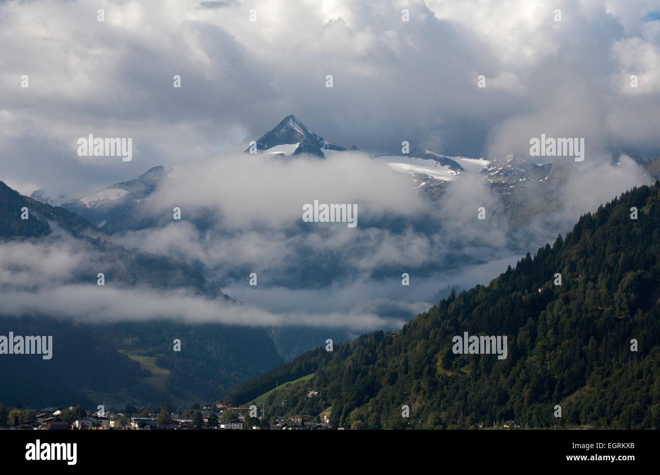 The Kitzsteinhorn above Kaprun  near Zell am See Salzburgerland Austria Stock Photo