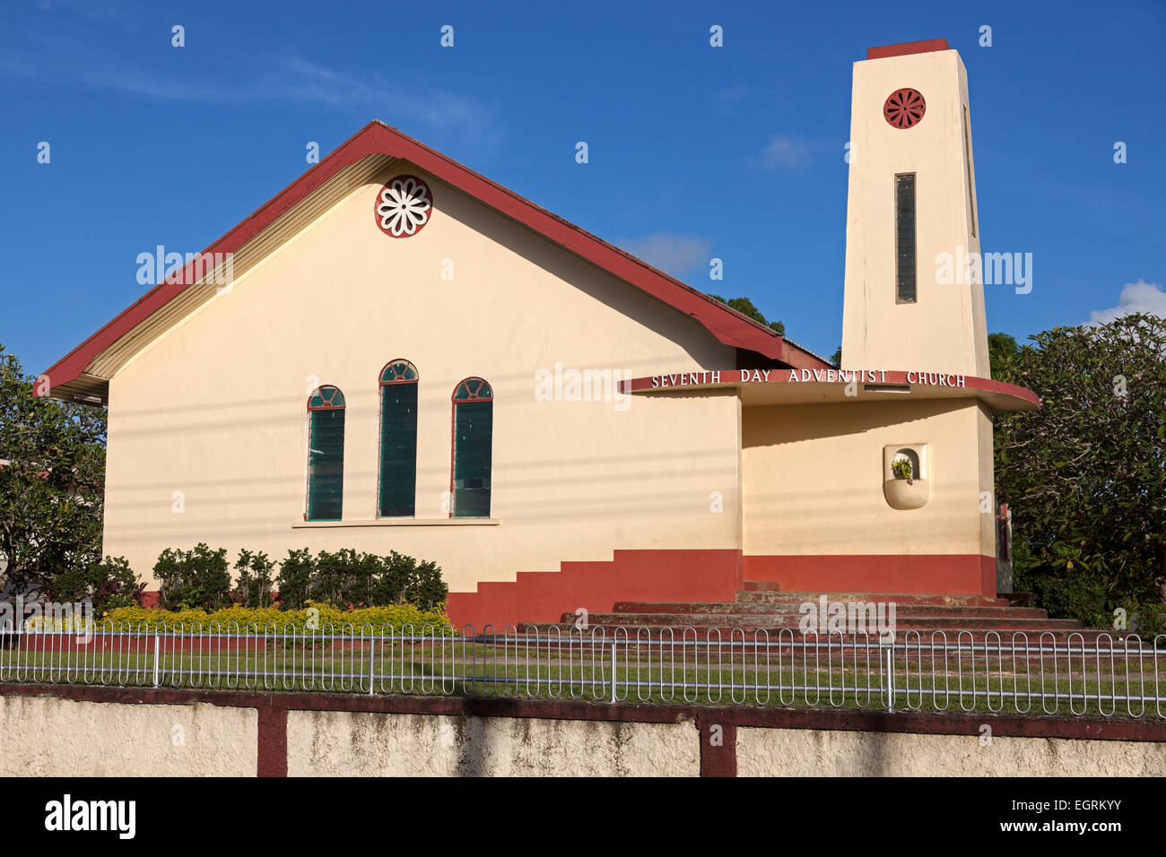 Seventh Day Adventist Church in Tonga Stock Photo