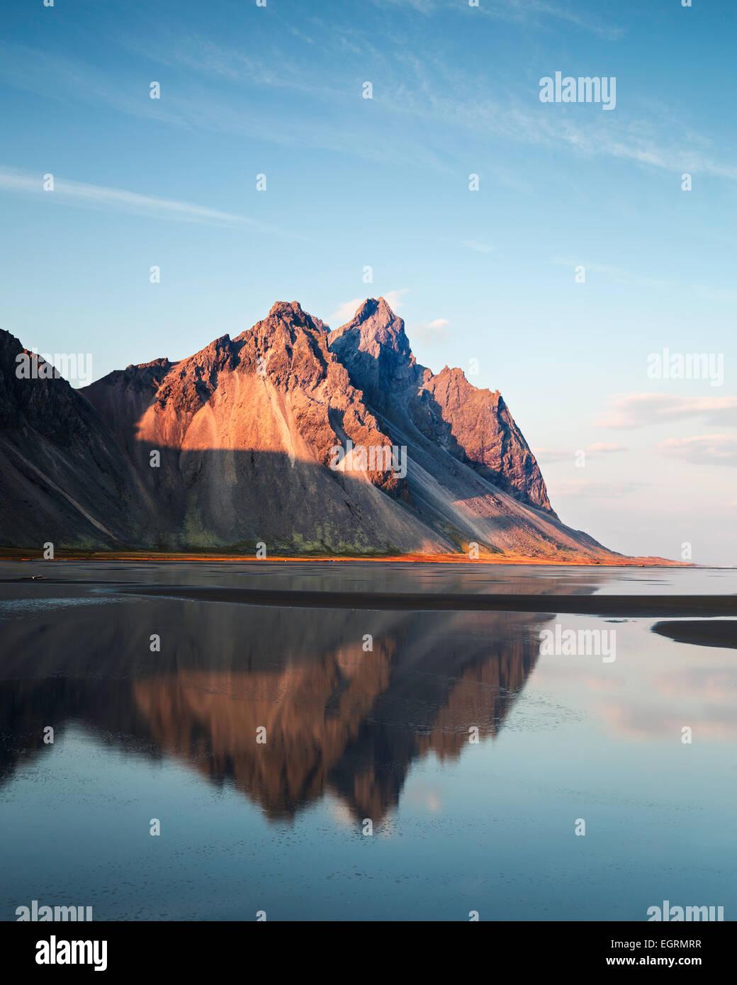 Vesturhorn Stokksnes Iceland - Stock Image