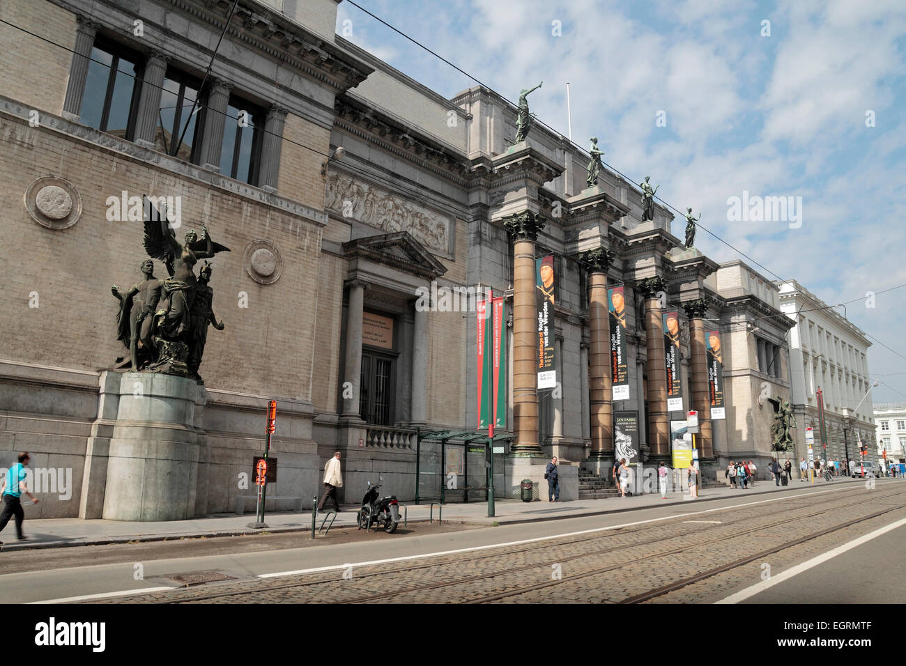 The Royal Museums of Fine Arts of Belgium in Brussels, Belgium. - Stock Image