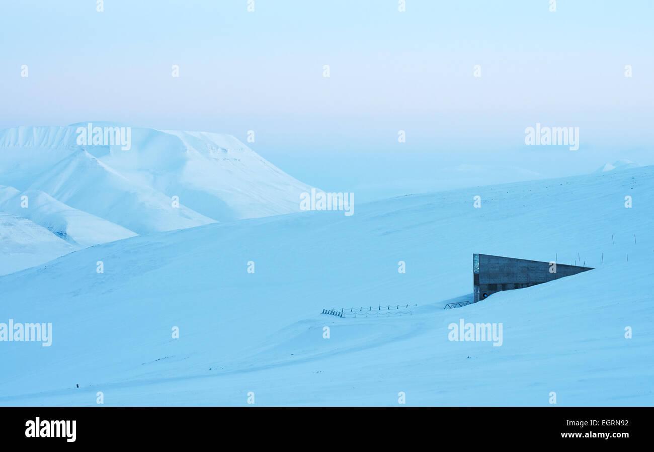 Svalbard Global Seed Vault, Longyearbyen Stock Photo