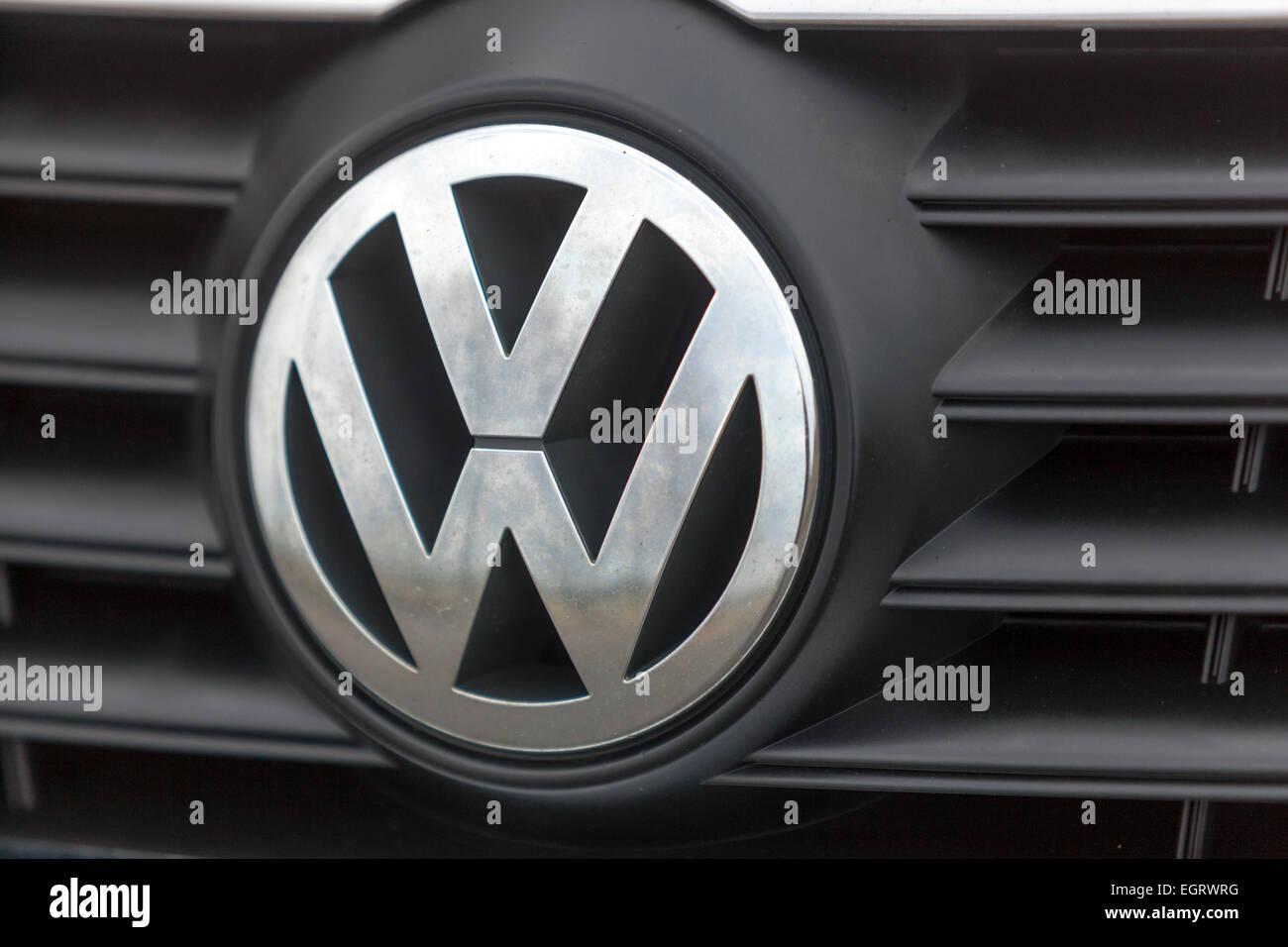 Volkswagen VW car logo sign - Stock Image