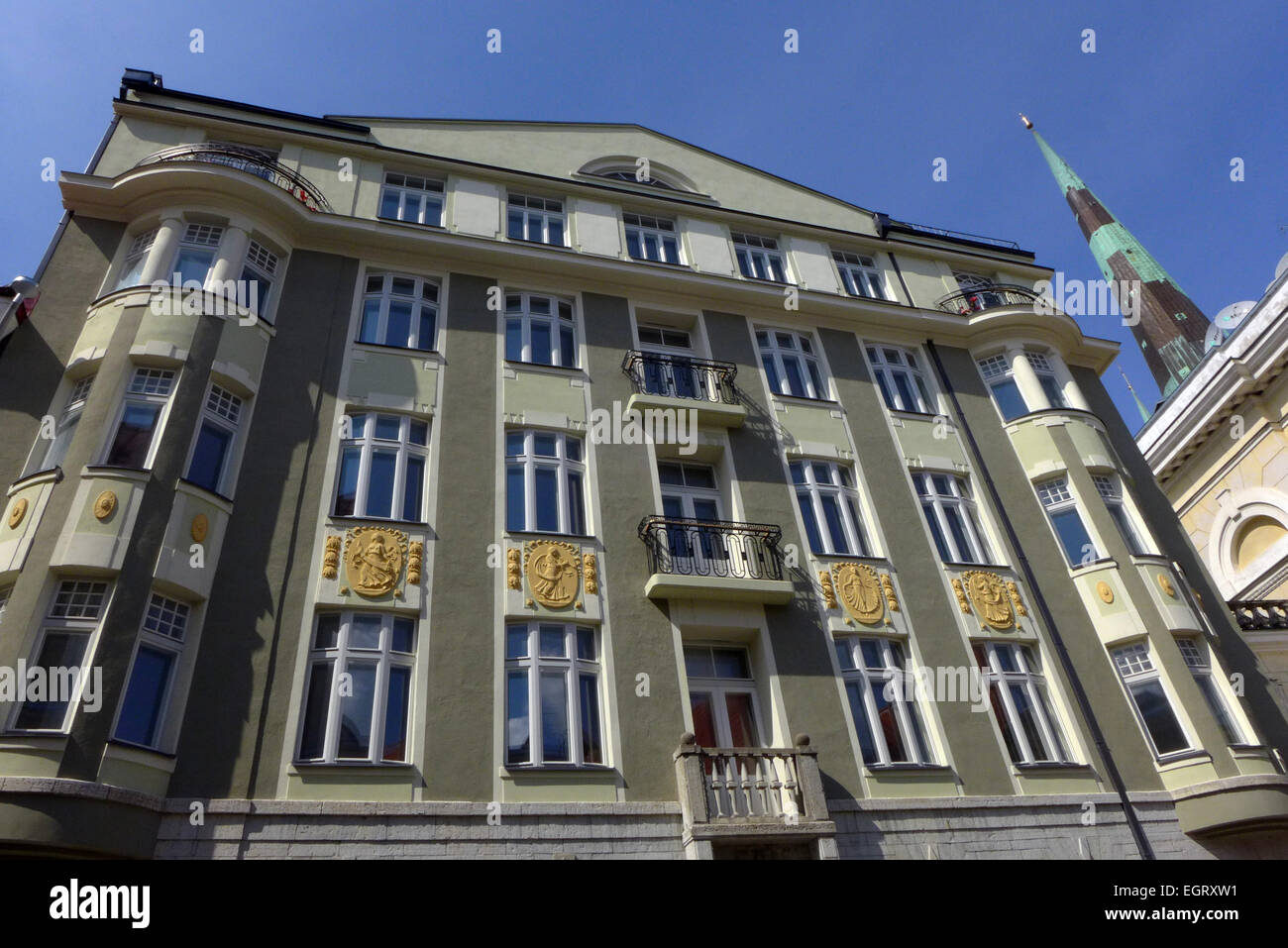 The former KGB building at 59 Pikk Street in Tallinn Estonia now an apartment building. - Stock Image