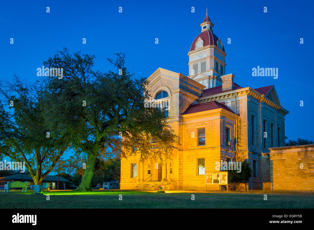 Bandera is the county seat of Bandera County, Texas, United States, in the Texas Hill Country. - Stock Image