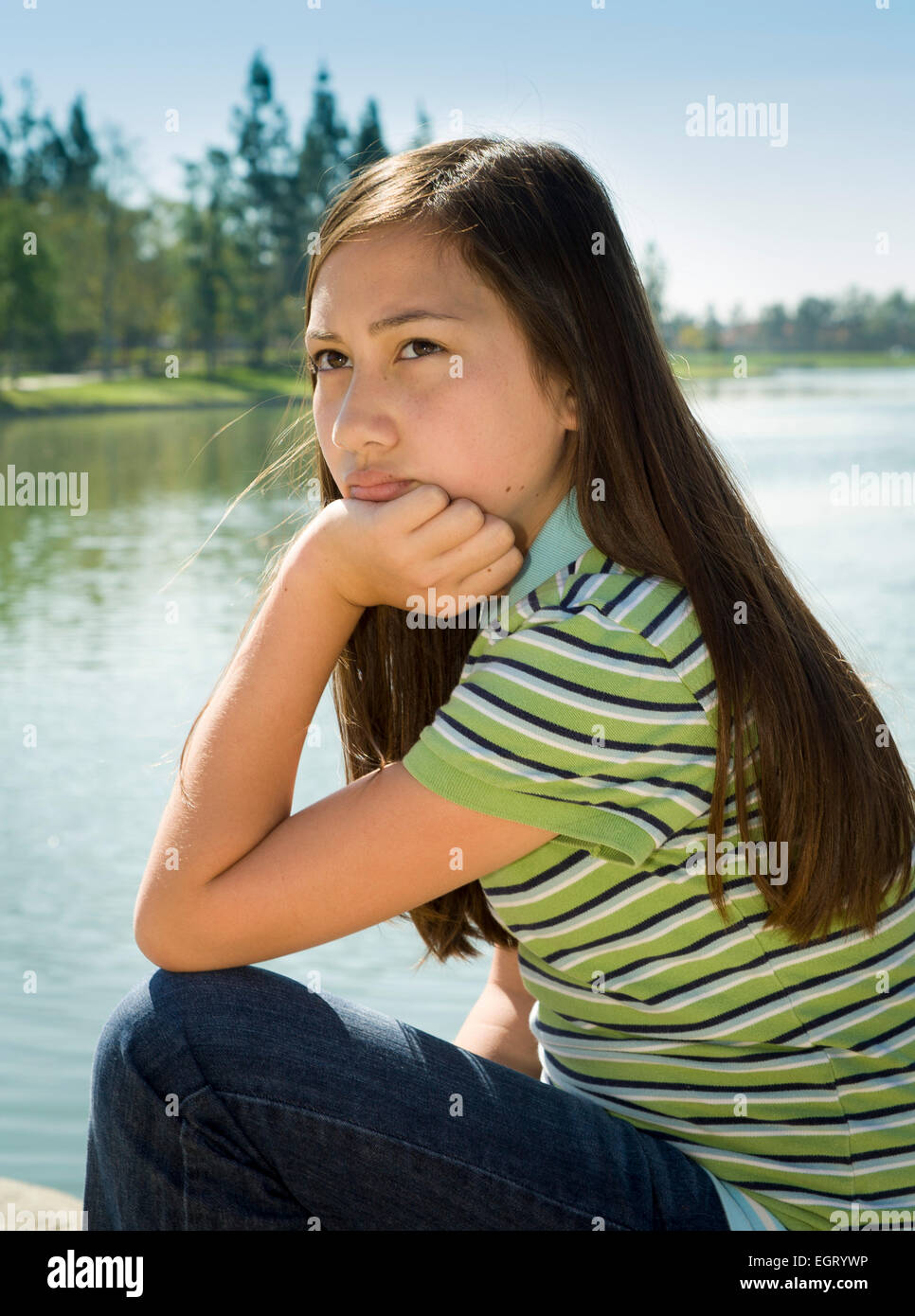 11 Year Girl Bedroom Decoration Ideas: 11 Year Old Girl Thinking Stock Photos & 11 Year Old Girl