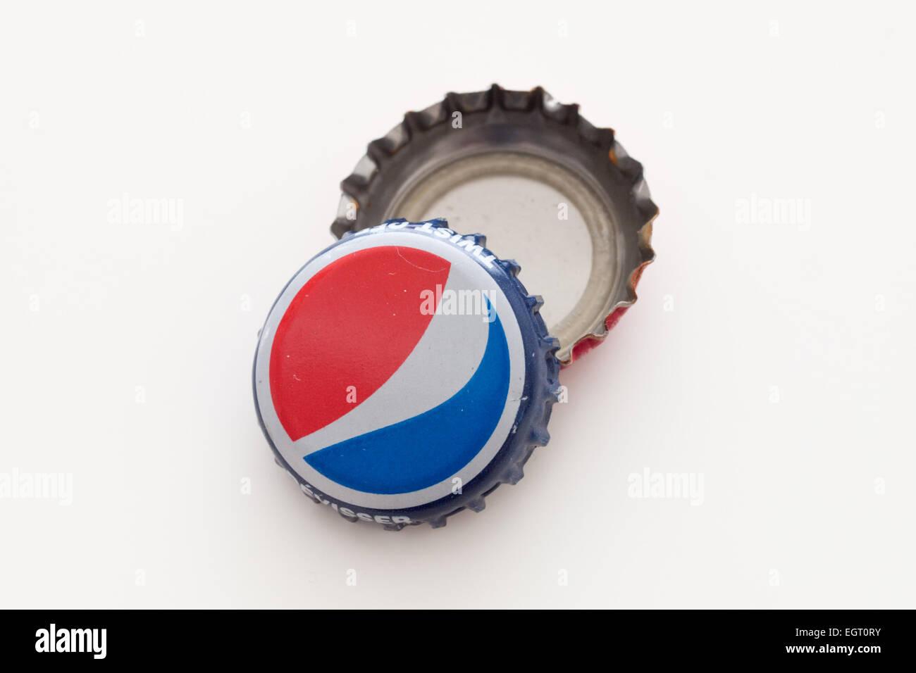 A Pepsi bottle cap (Pepsi bottle caps). - Stock Image