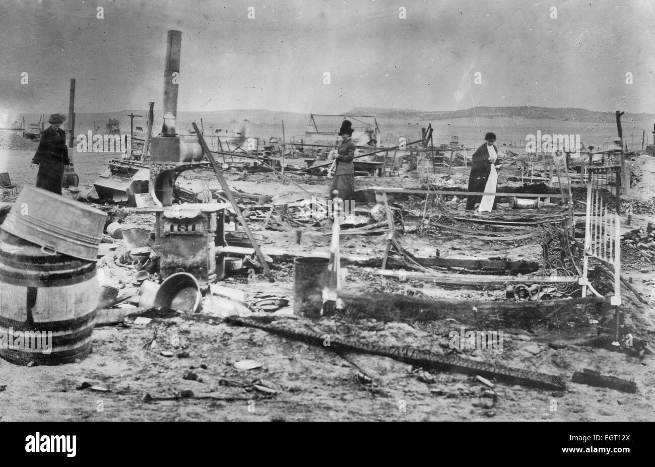 Ruins Ludlow Colony -- Trinidad, Colorado -  ruins in the aftermath of the Ludlow Massacre, during which a tent - Stock Image