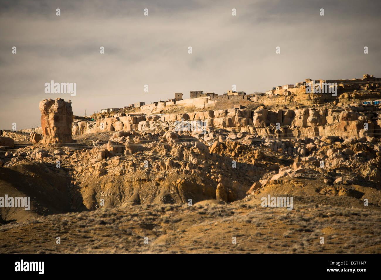 First mesa; Hopi nation; Arizona; United States - Stock Image