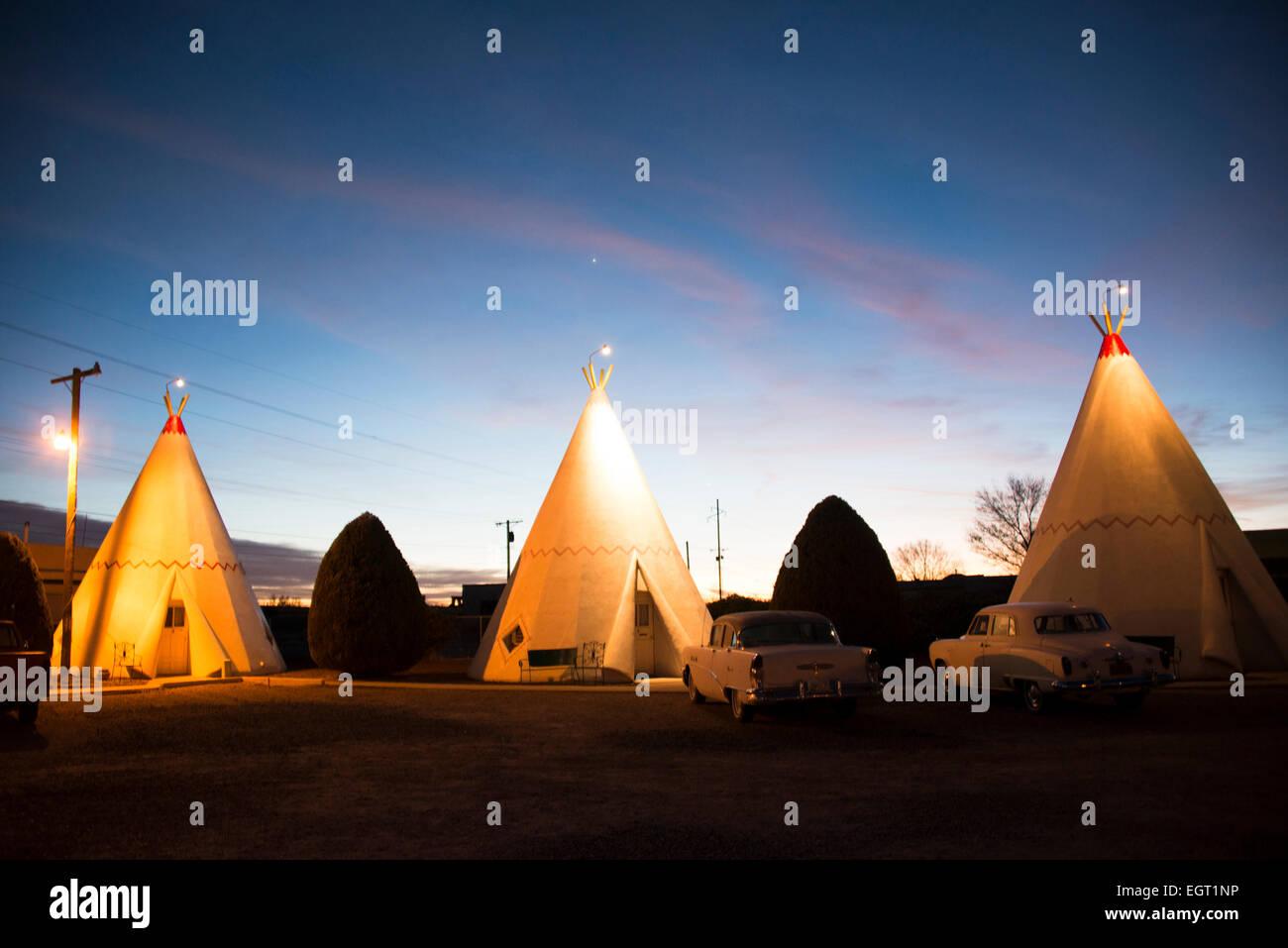 Wigwam motel; Holbrook; Arizona; United States - Stock Image