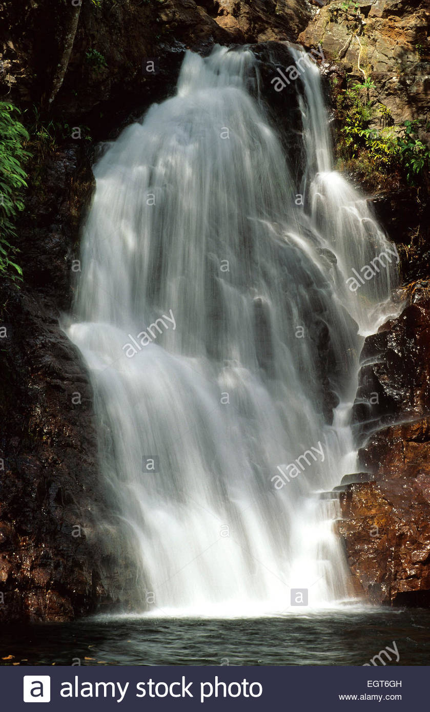 Waterfall in the Litchfield National Park, Australia. - Stock Image