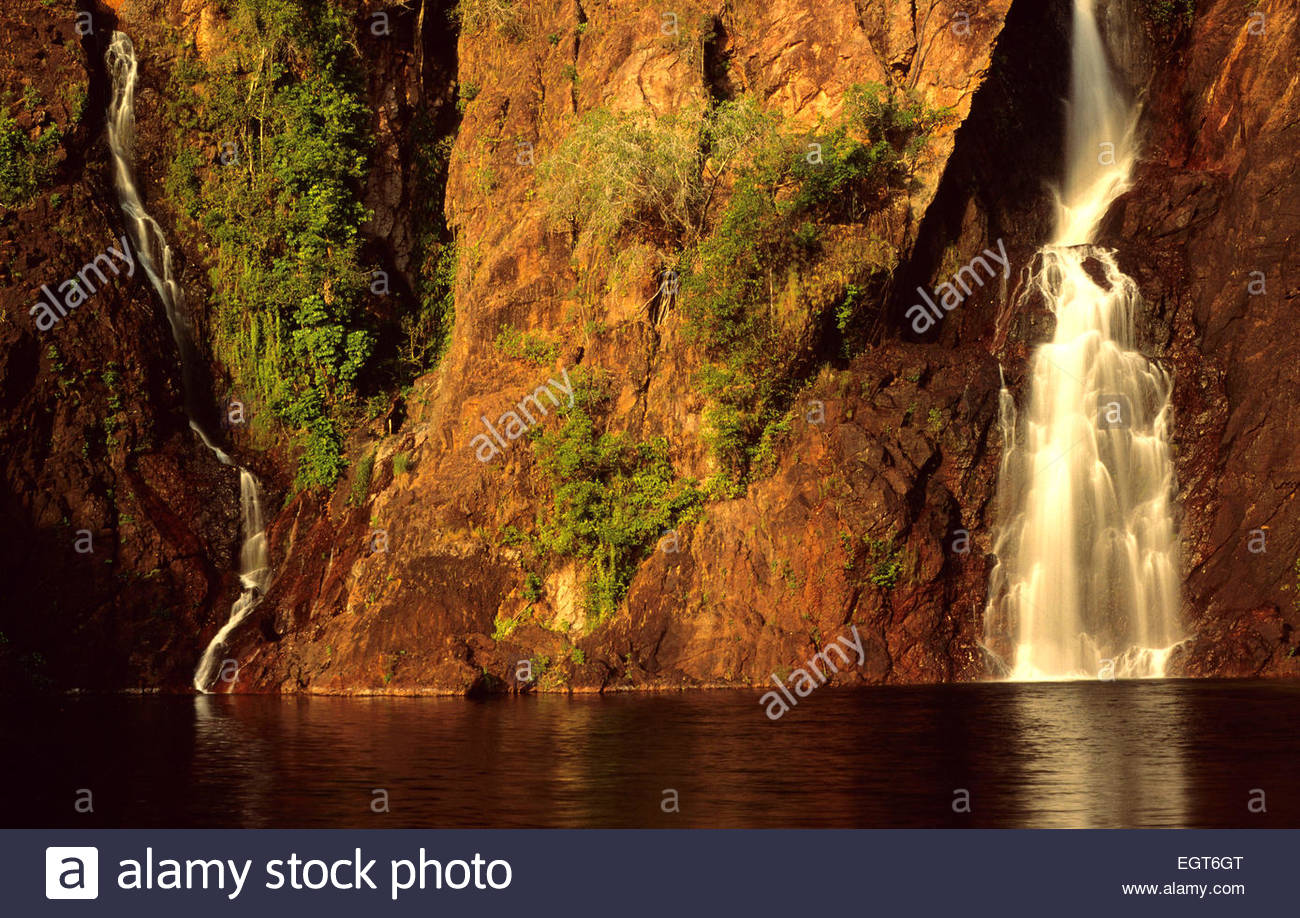 Waterfall in the Litchfield National Park, Northern Australia. - Stock Image
