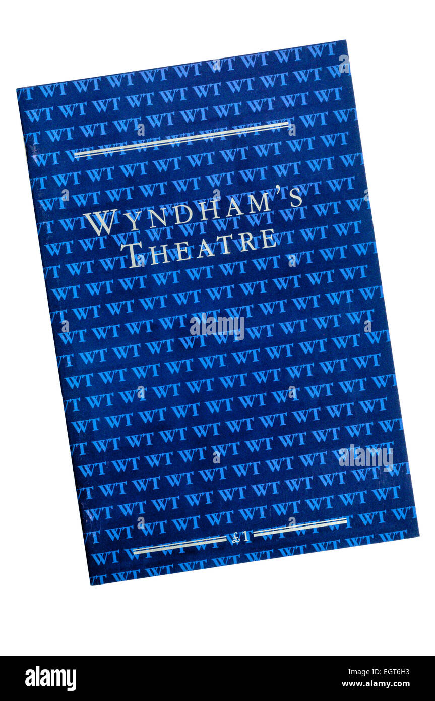 A Programme for Wyndham's Theatre. - Stock Image