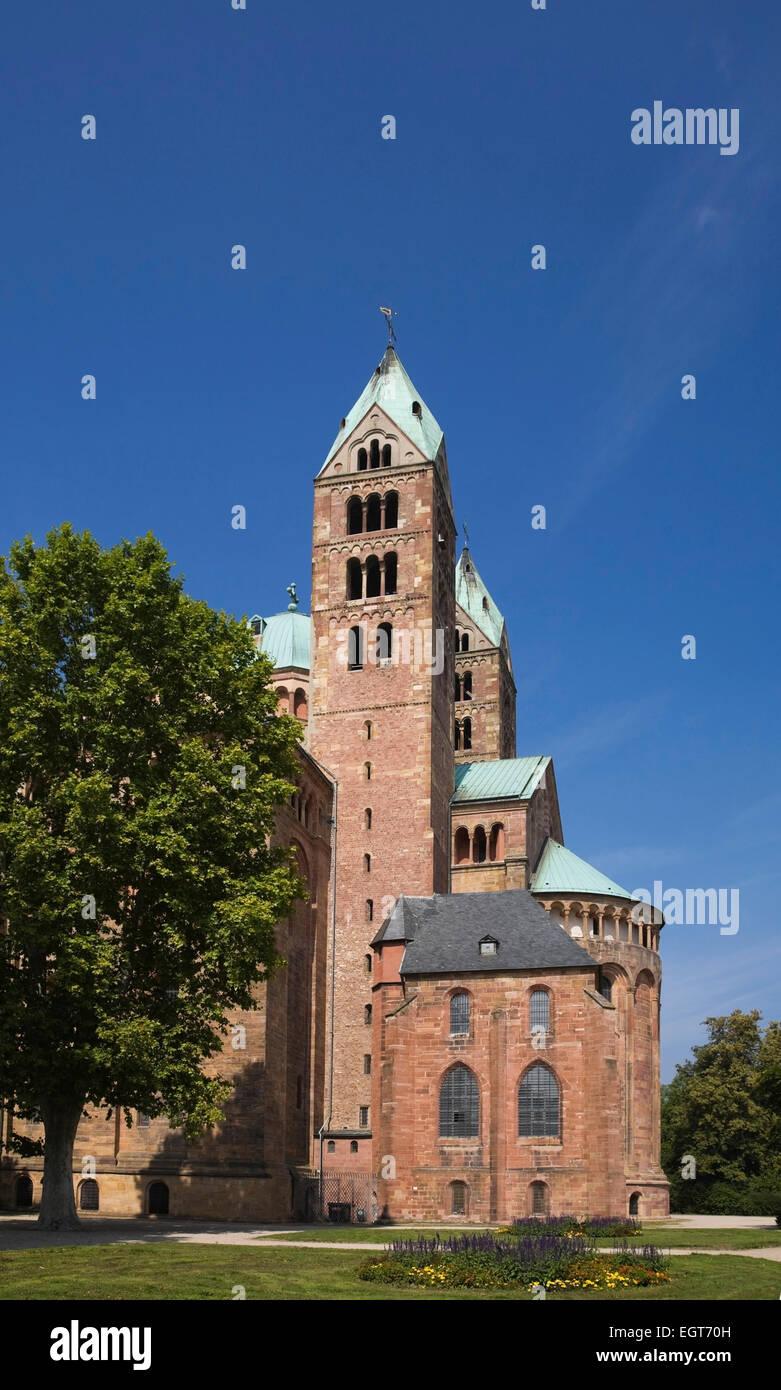 Speyer Cathedral, Speyer, Rheinland-Pfalz, Germany - Stock Image