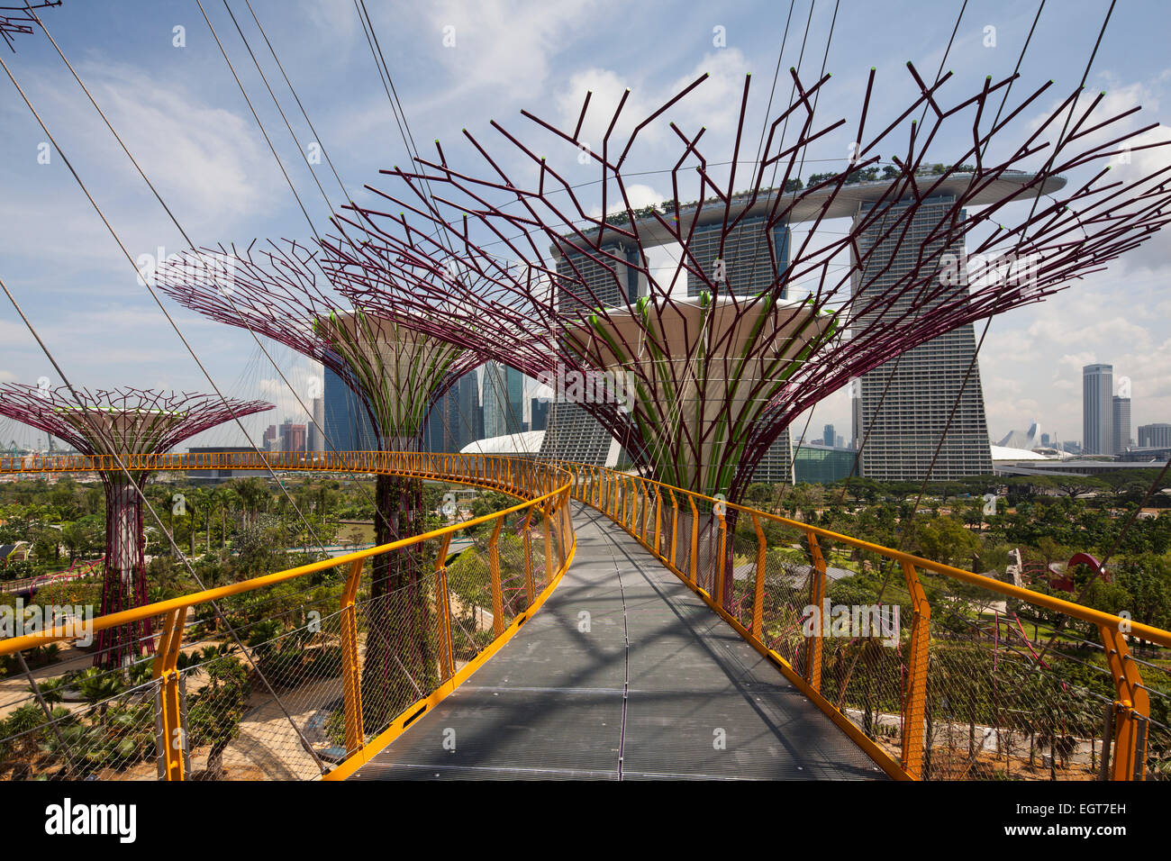 Gardens by the Bay in Singapore. Gardens by the Bay by Grant Stock ...