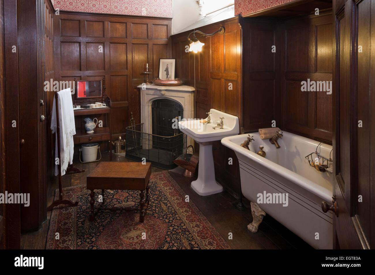 Victorian Bathroom In Newstead Abbey, Nottinghamshire, England, UK
