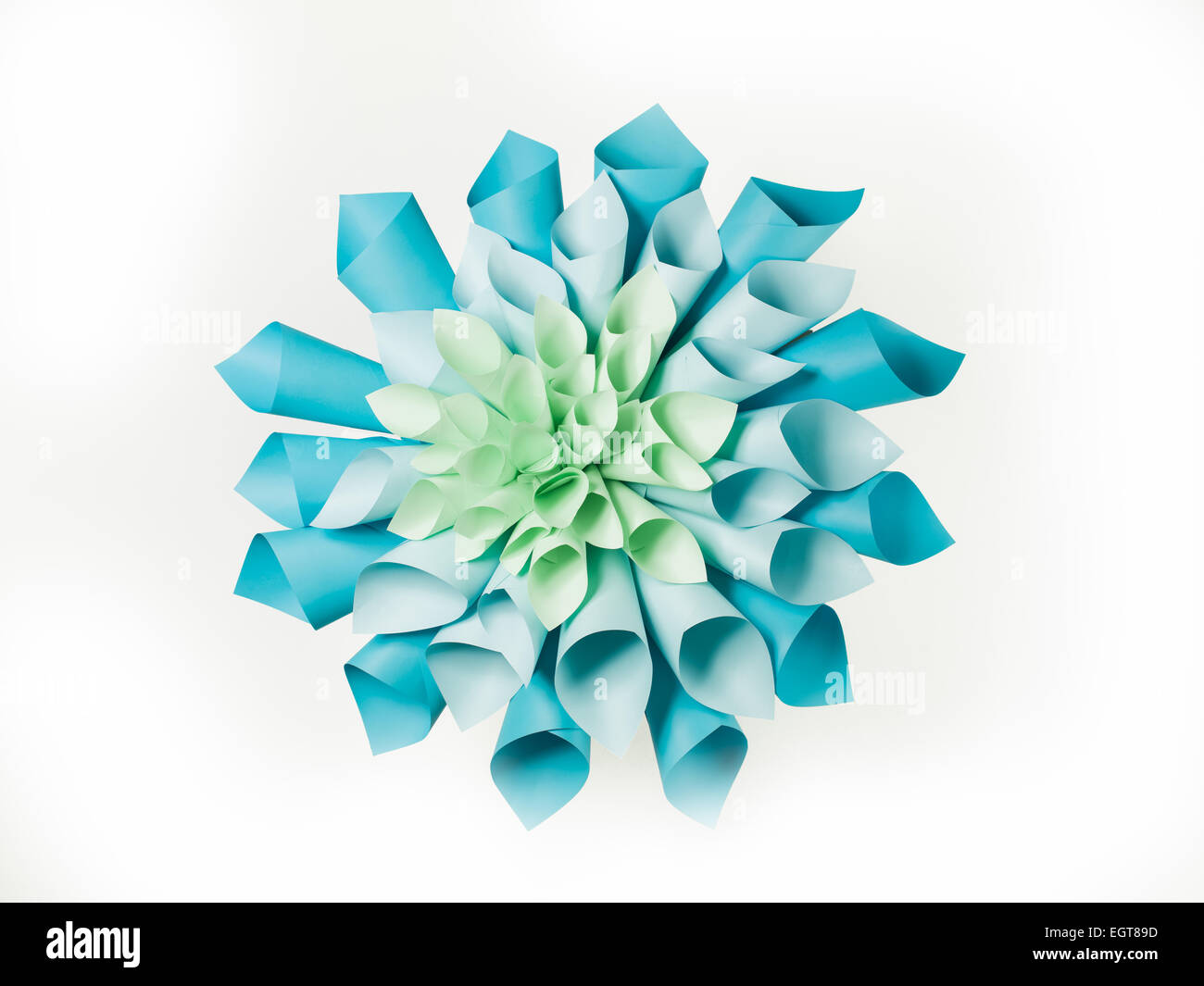 Abstract Image Of Origami Flower Shape Made Out Of Rolled Sheets Of