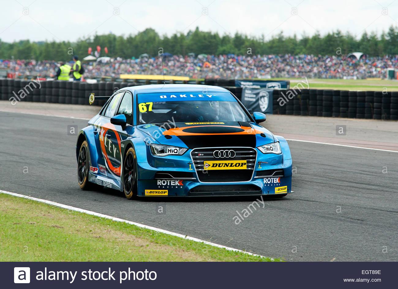 British,Touring,Car,Driver,B.T.C.C.Championship,M.S.A.Dunlop,Croft,Circuit, - Stock Image