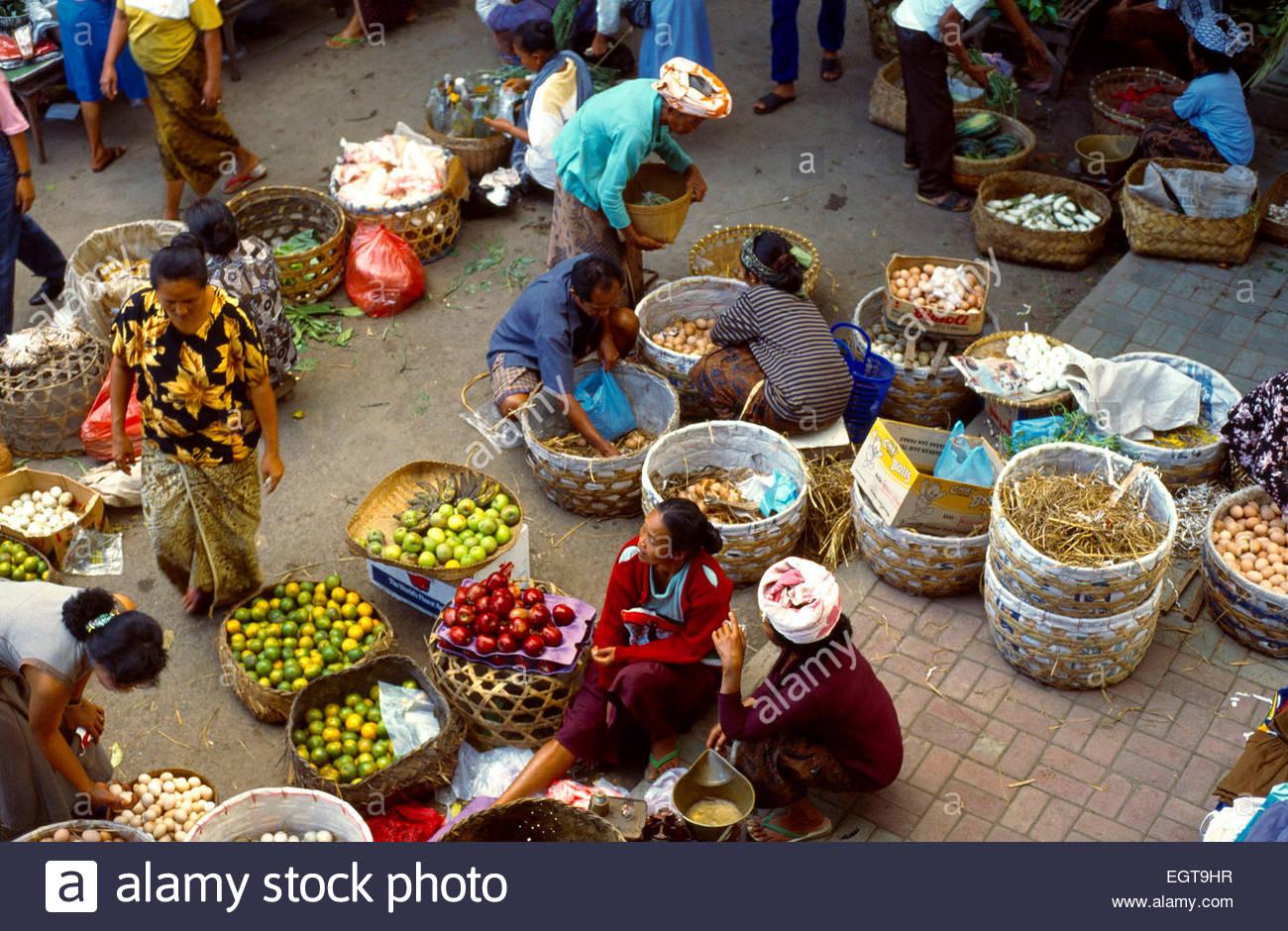 Bali Indonesia Ubud Market - Stock Image