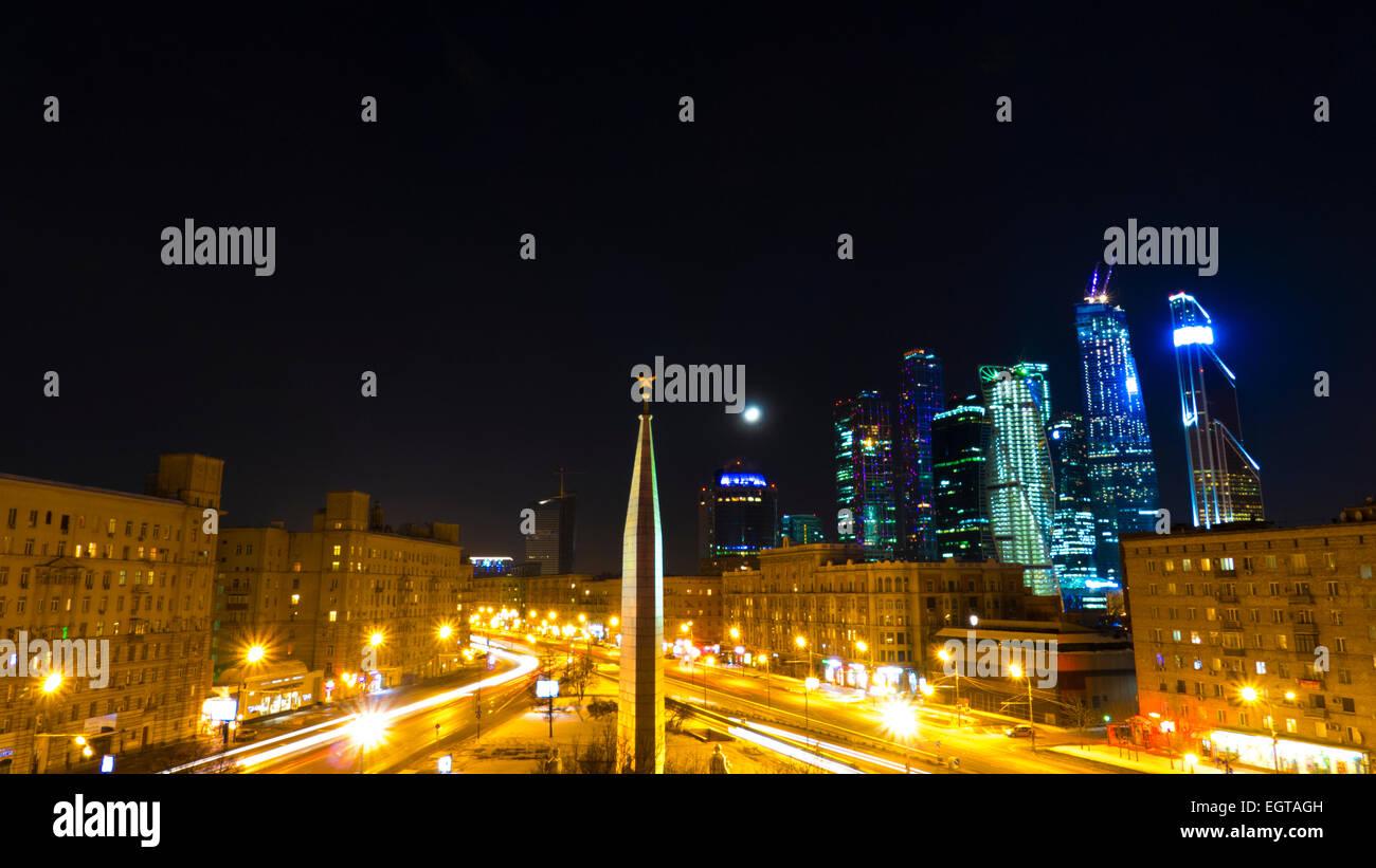 Area Dorogomilovskaya Zastava  Moscow, Kutuzov Avenue - Stock Image