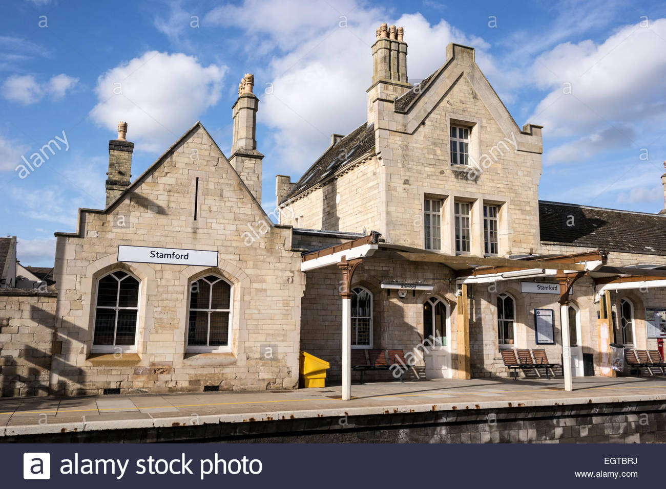 Stamford Railway Station, Lincolnshire, UK.  Grade II listed building - Stock Image