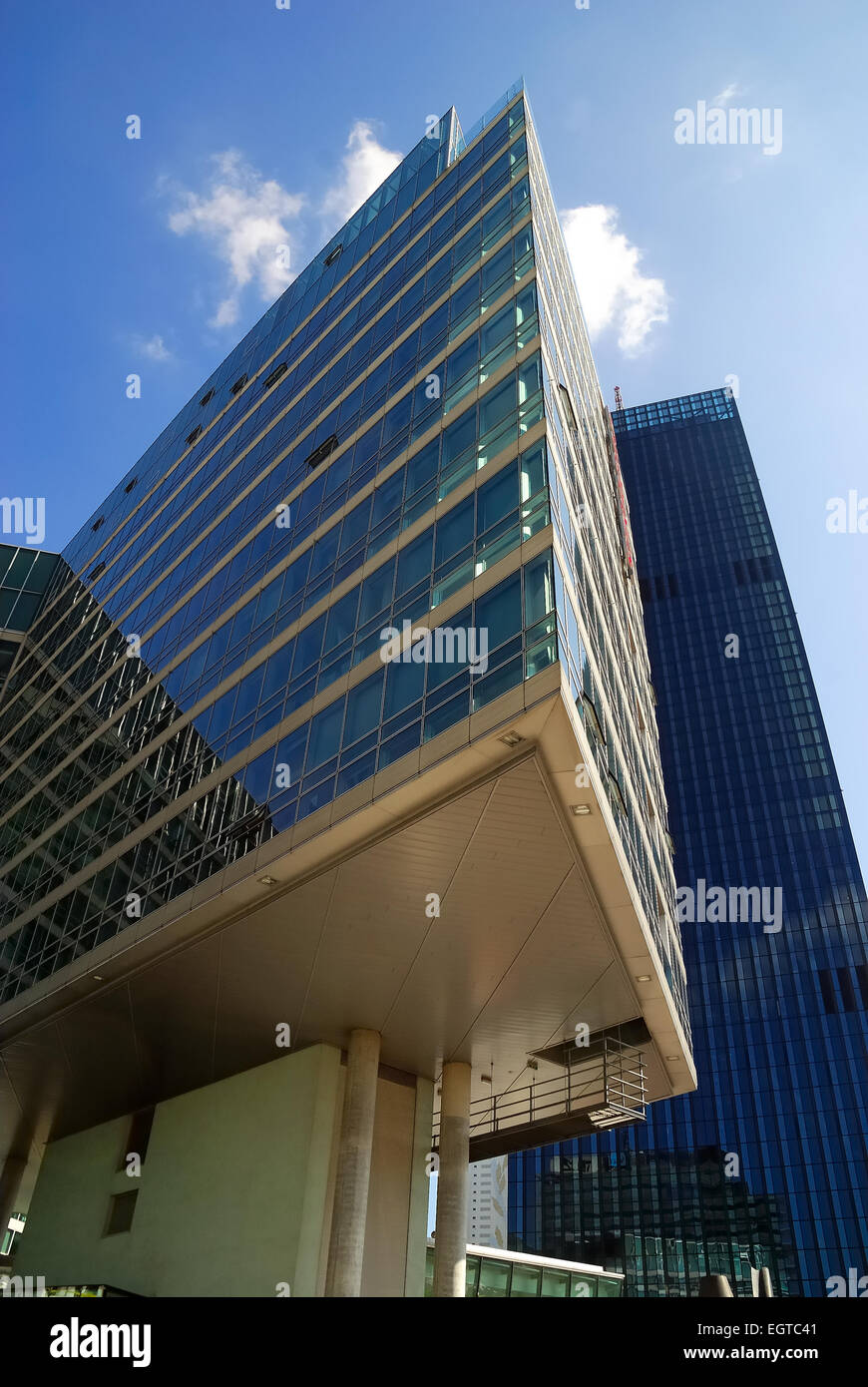 The Vienna International Centre (VIC) is the campus and building complex hosting the United Nations Office at Vienna. - Stock Image