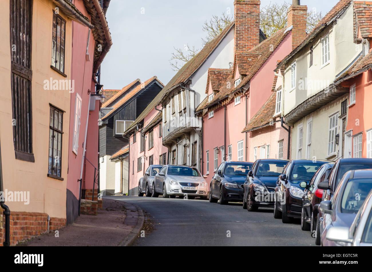 Lavenham, Sudbury, Suffolk, UK - Stock Image