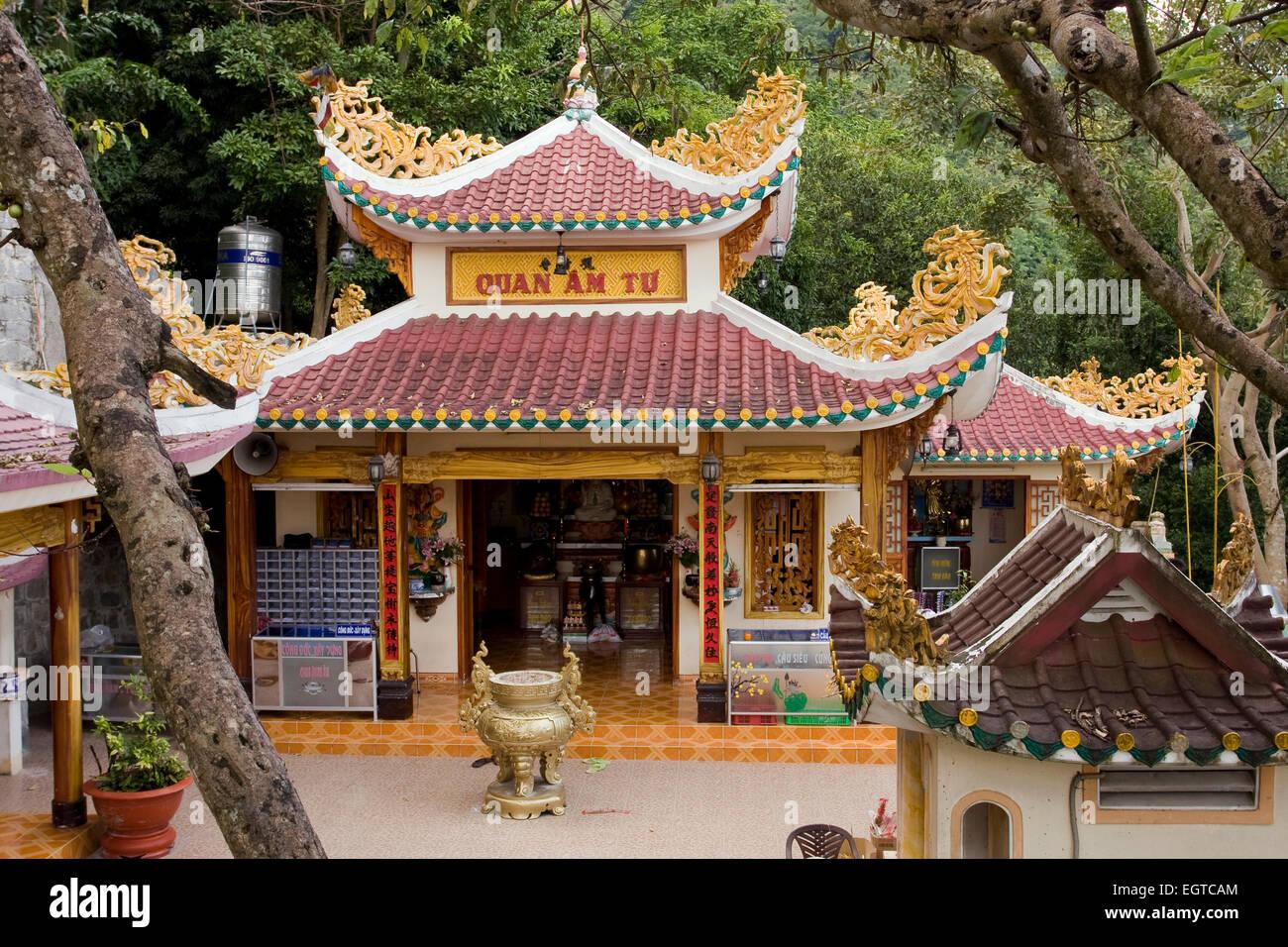 Cao Dai Temple Pagoda at Tay Ninh, Vietnam, Southeast Asia - Stock Image