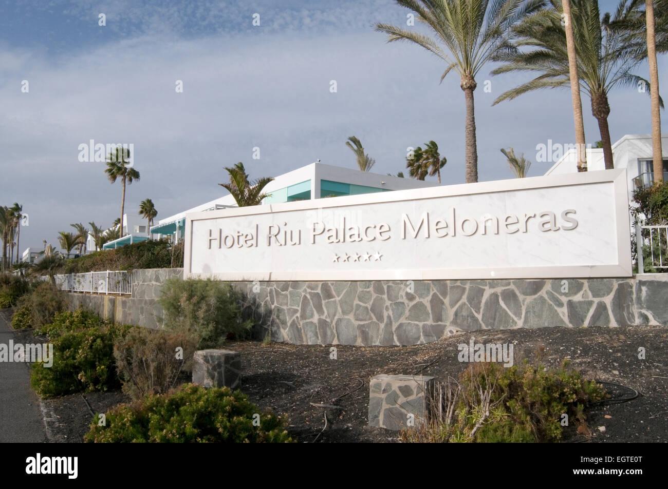 hotel riu palace meloneras gran canaria canary islands isles spainish hotel chain spain - Stock Image