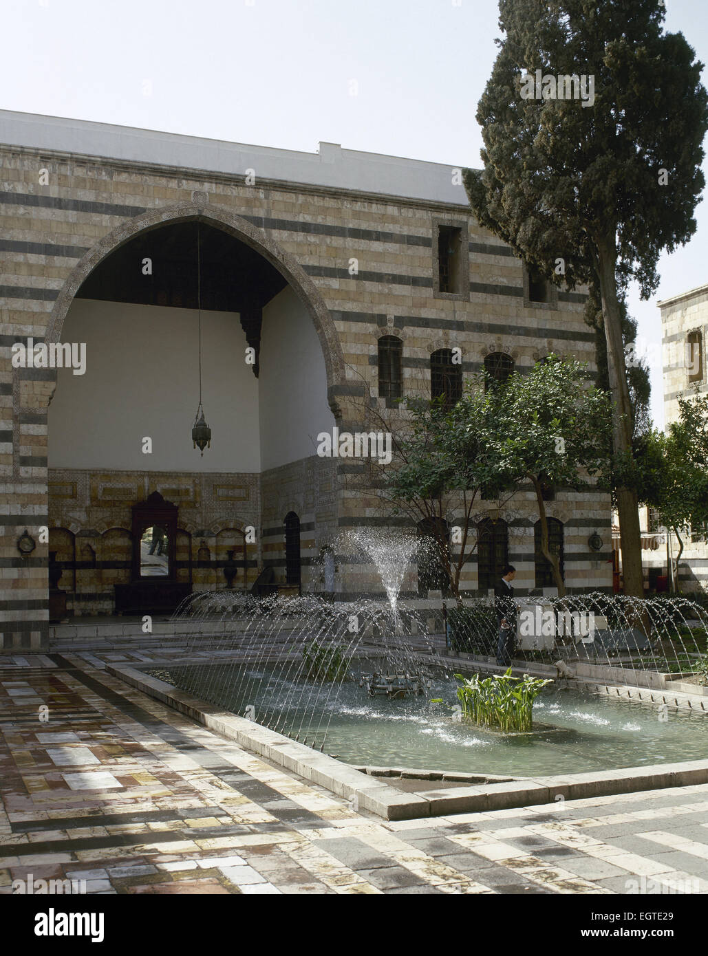 Syria. Damascus. Al Azem Palace (Palace of As'as, Pasha al-'Azm). 1749-1752. Built on order of the Ottoman - Stock Image