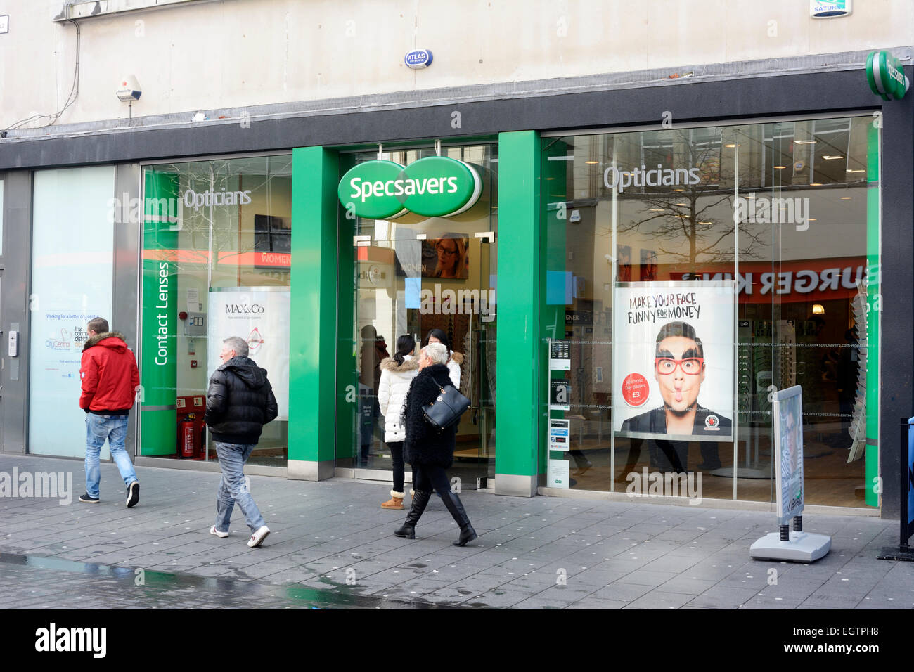 Specsavers store in Liverpool. Stock Photo