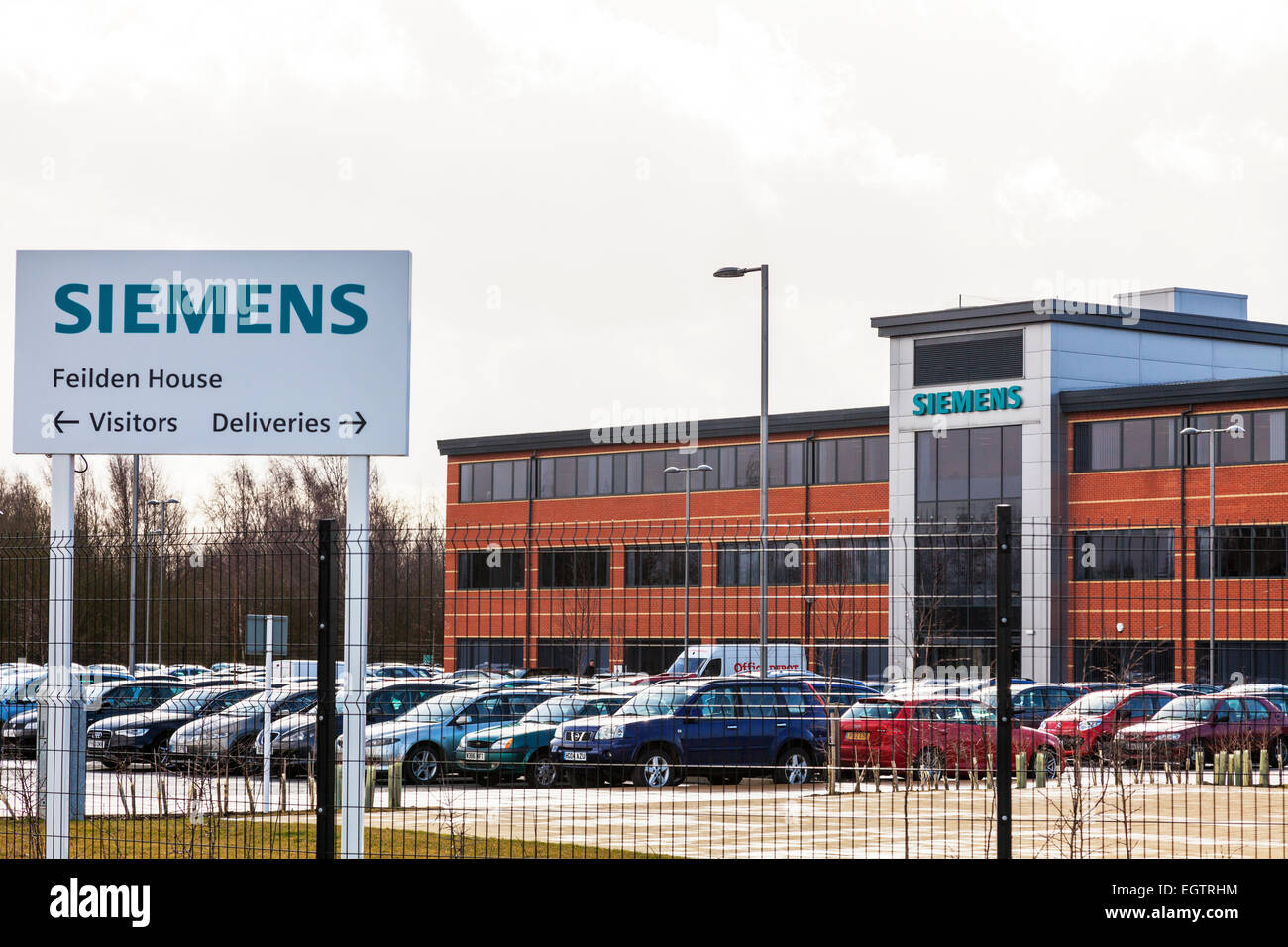 Lincoln Siemens state-of-the-art gas turbine overhaul facility Lincolnshire engineering plant UK England Stock Photo