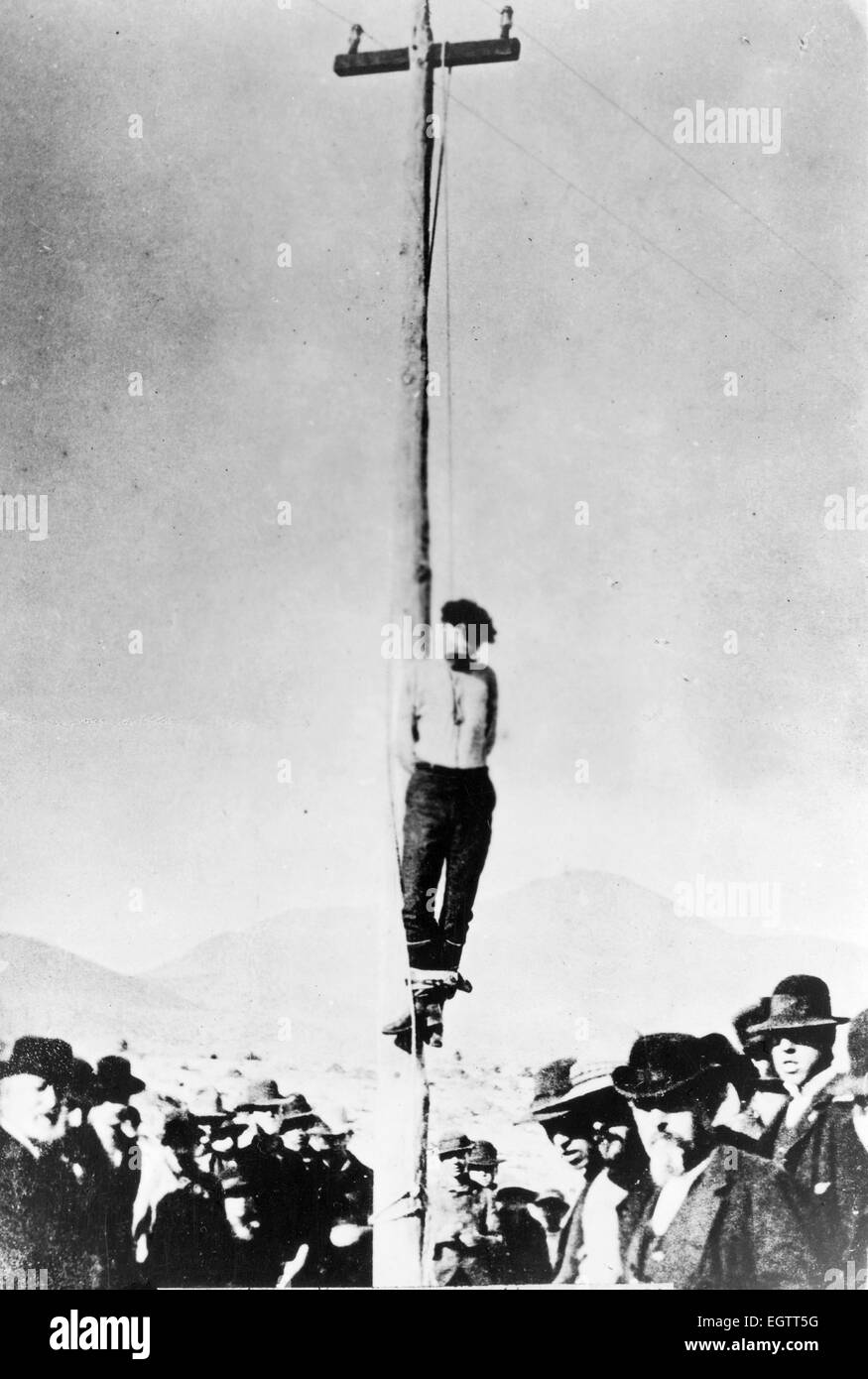John Heath, lynched on Feb. 22, 1884, by infuriated citizens in Arizona - Stock Image